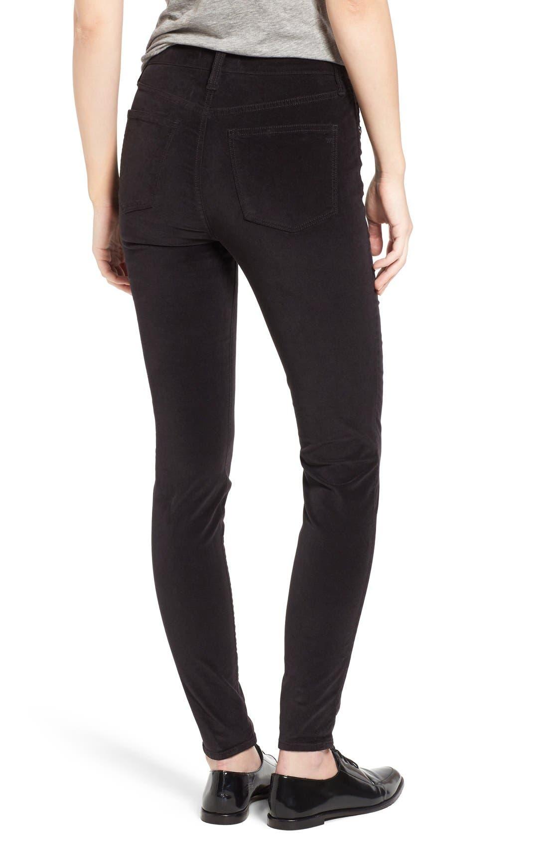 Alternate Image 2  - Madewell High Rise Velvet Skinny Jeans