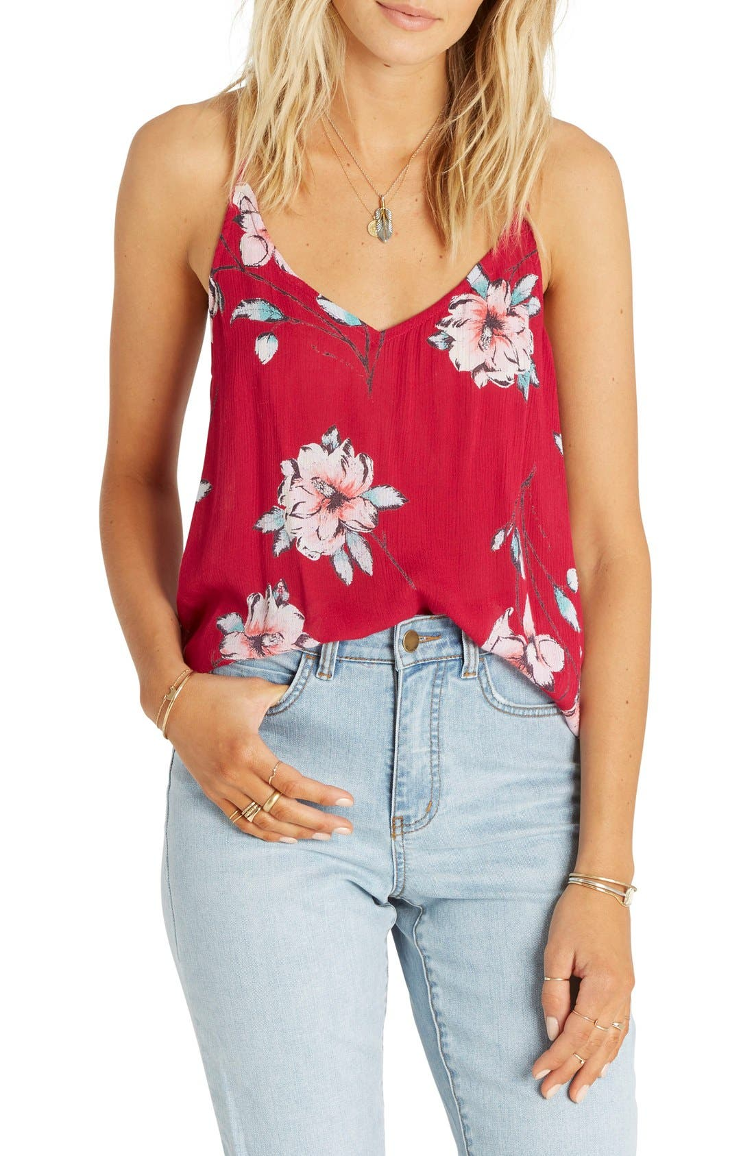 Alternate Image 1 Selected - Billabong Day Tripper Floral Print Tank