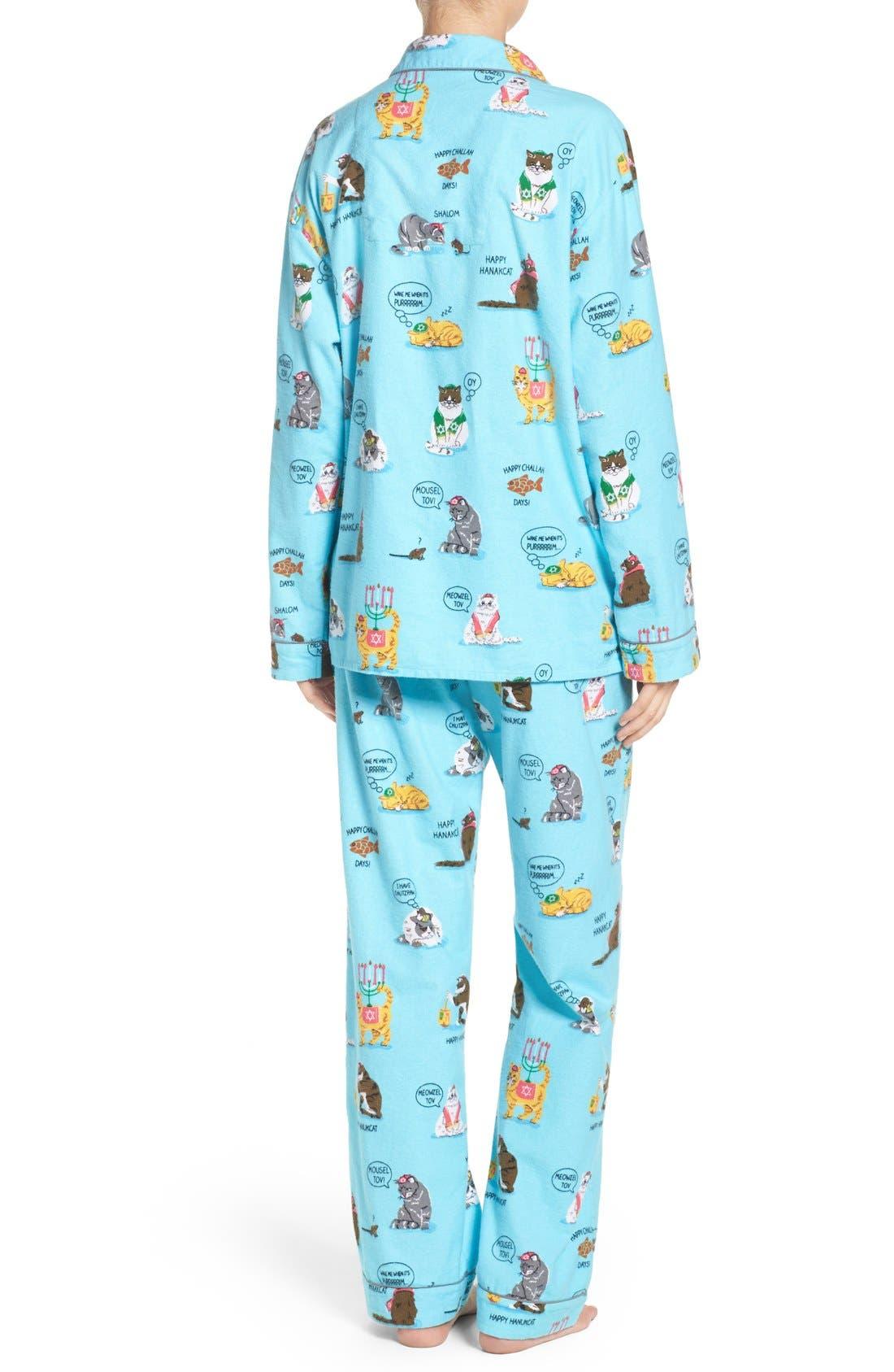 Alternate Image 2  - PJ Salvage Print Flannel Pajamas