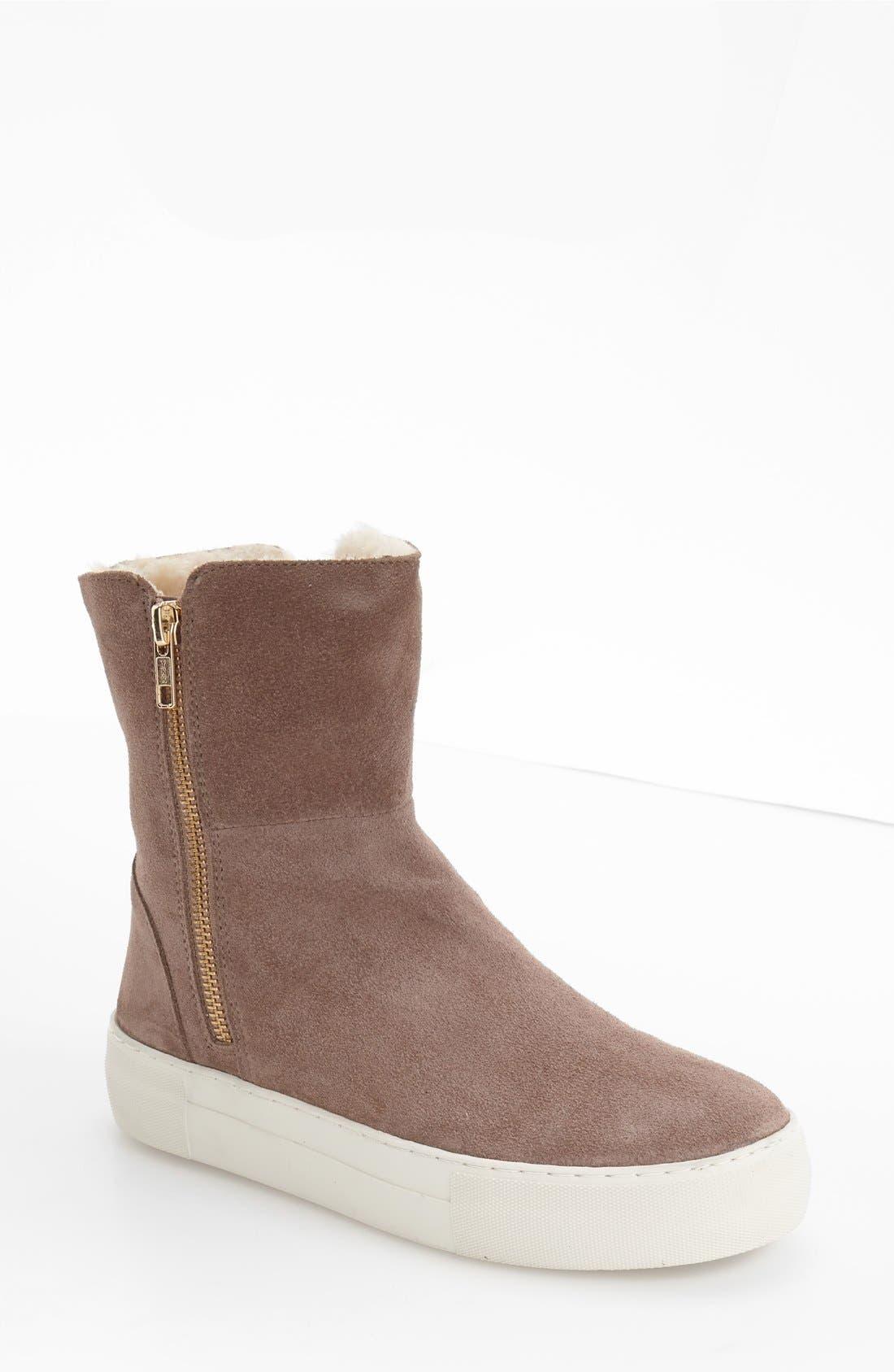 JSlides Allie Faux Fur Lined Platform Boot (Women)