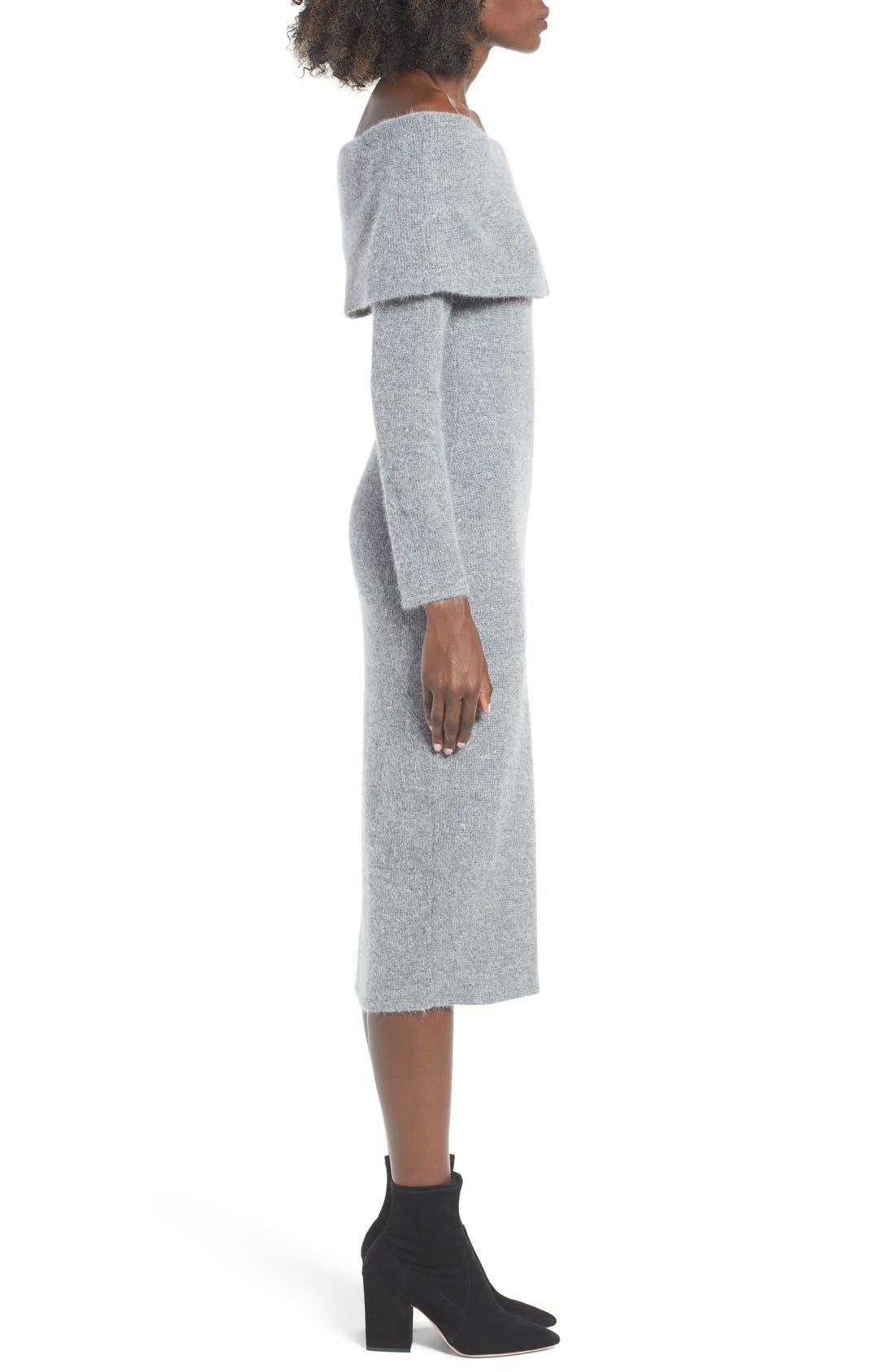 Alternate Image 3  - J.O.A. Off the Shoulder Sweater Dress