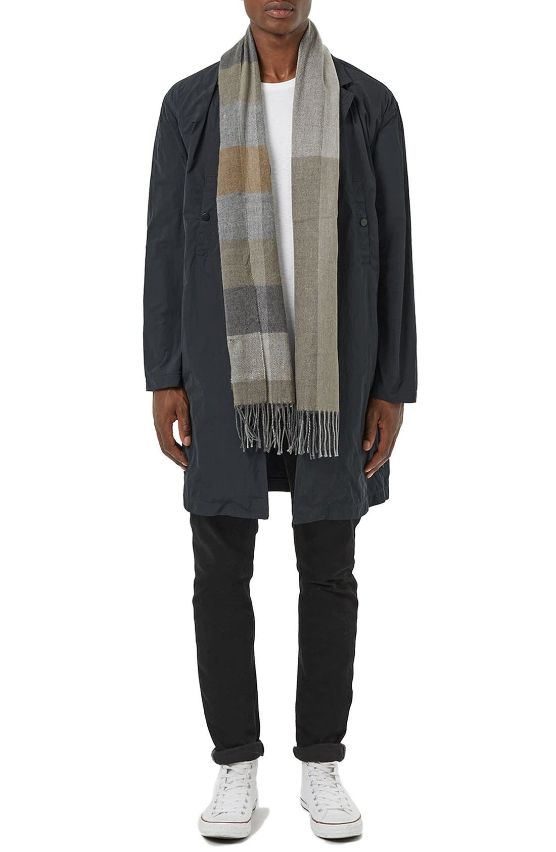 Alternate Image 3  - Topman Check Woven Scarf
