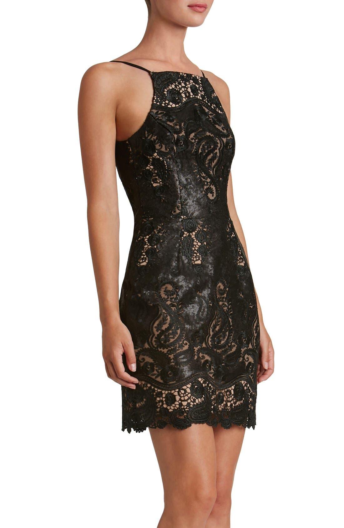 Alternate Image 4  - Dress the Population Julie Sequin Lace Sheath Dress
