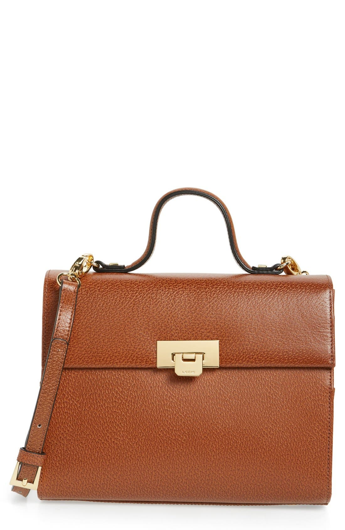 Lodis Medium Bree Leather Top Handle Satchel