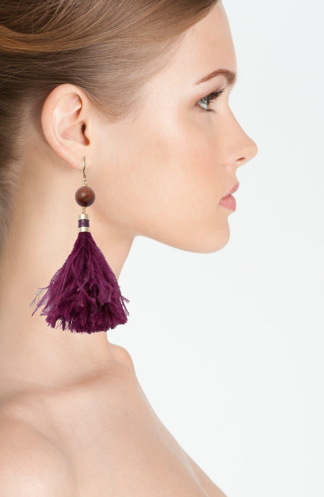 Alternate Image 2  - kate spade new york 'swing time' tassel earrings