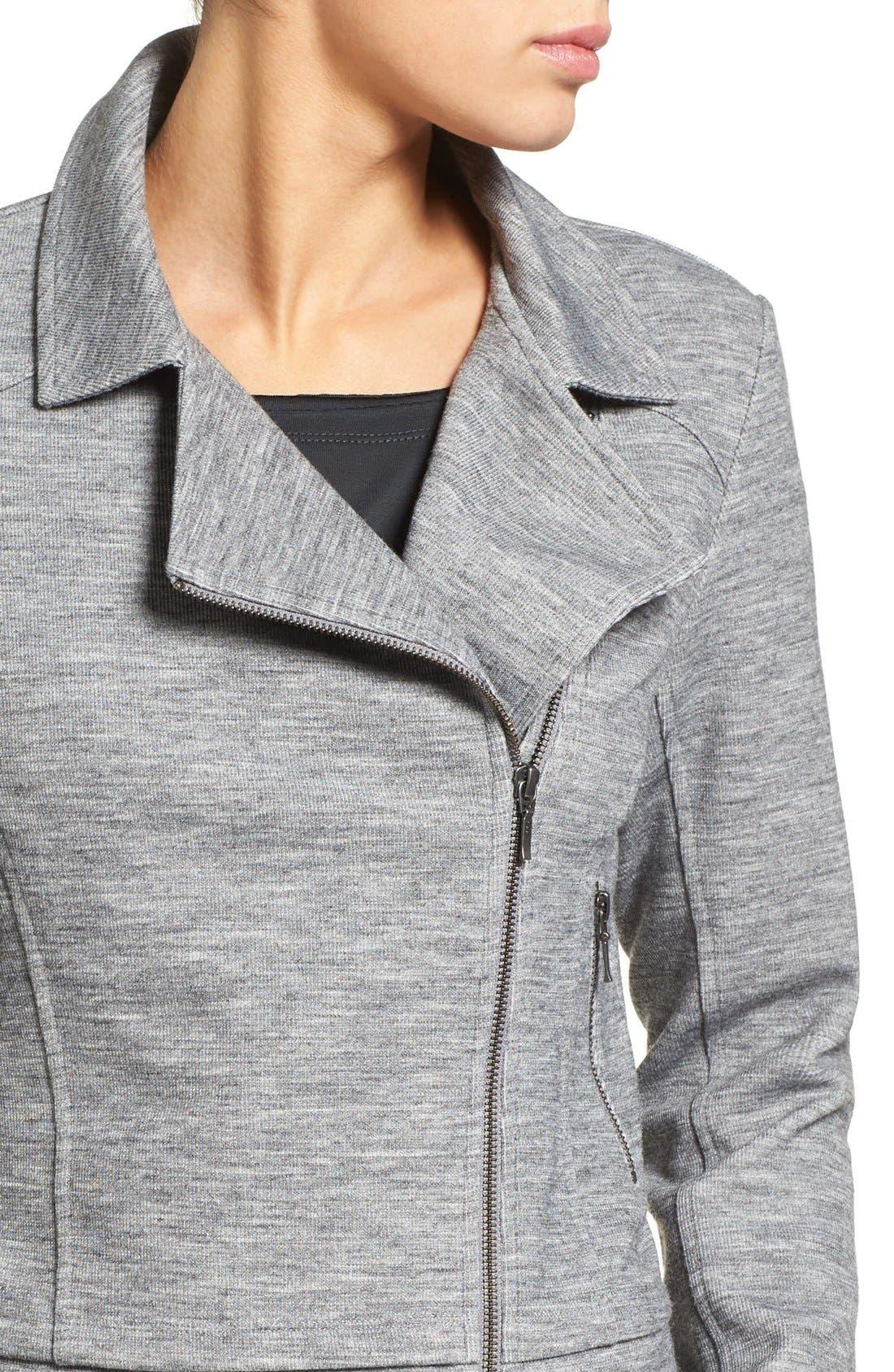 Alternate Image 4  - Halogen® Texture Knit Moto Jacket