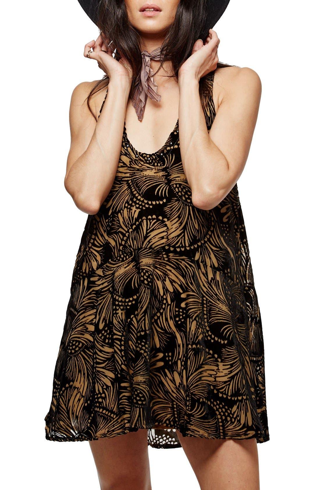 Main Image - Free People Ellie Burnout Velvet Minidress