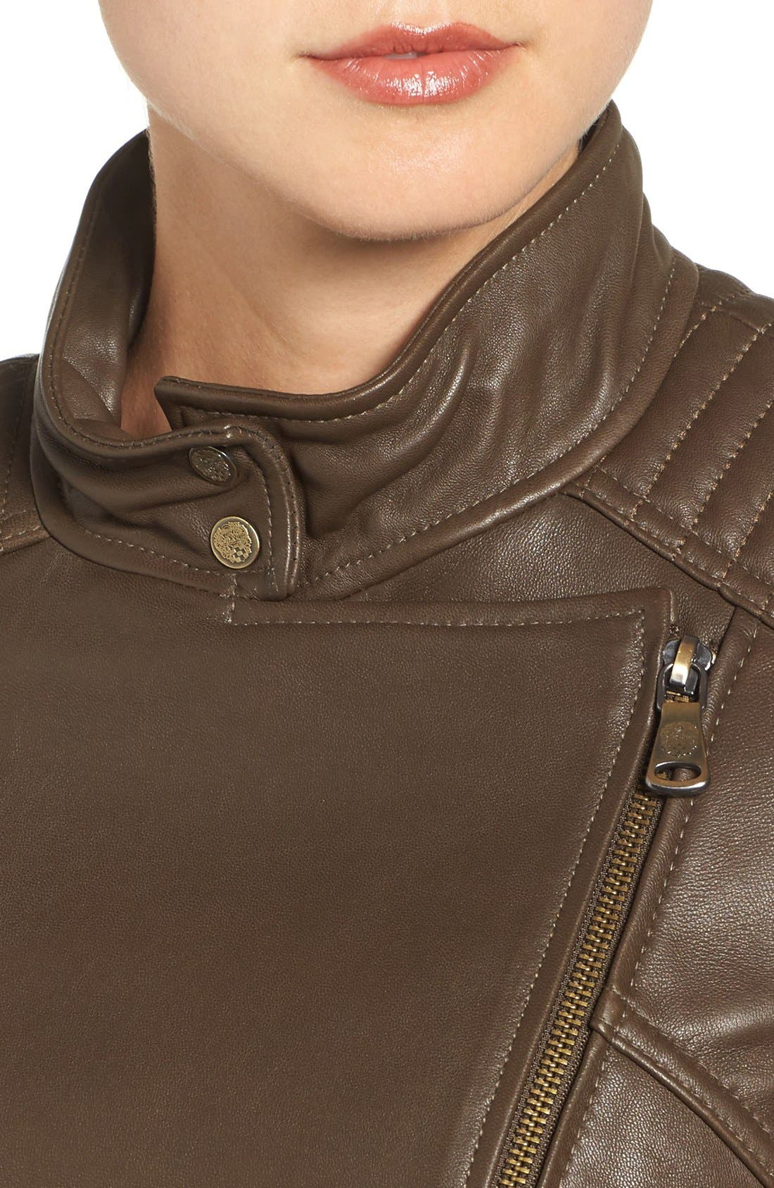 Alternate Image 4  - Vince Camuto Asymmetrical Leather Moto Jacket (Online Only)