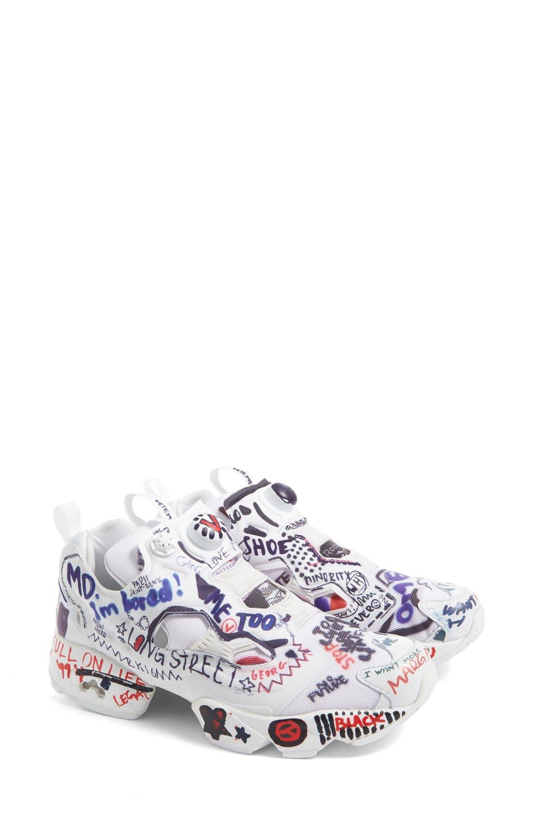 Main Image - Vetements x Reebok Graffiti Instapump Fury Sneaker (Women)