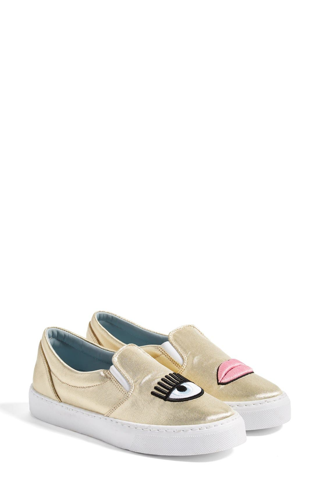 Alternate Image 2  - Chiara Ferragni Flirting Lips Slip-On Sneaker (Women)