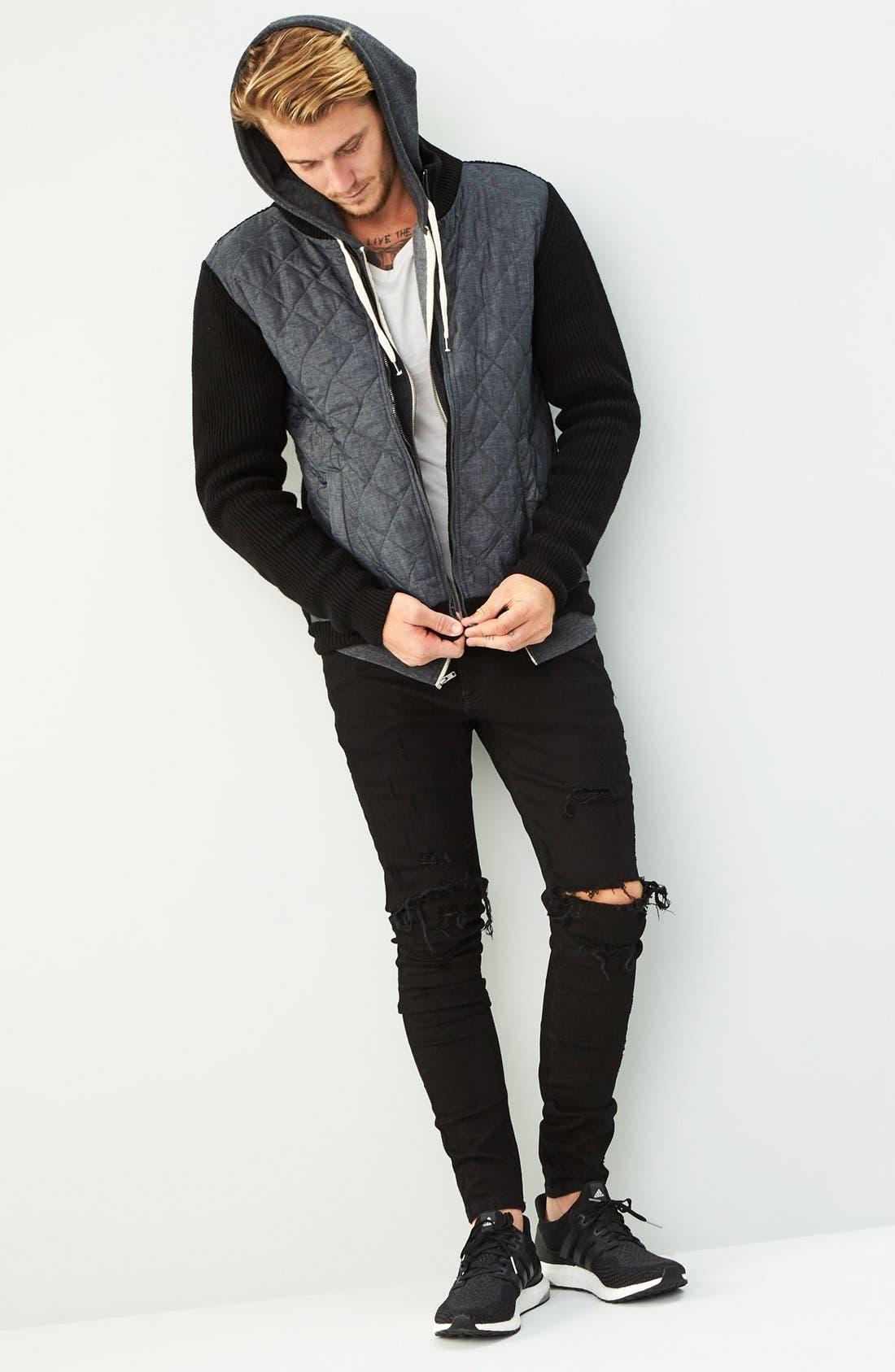 Alternate Image 4  - Represent Destroyer Skinny Fit Jeans