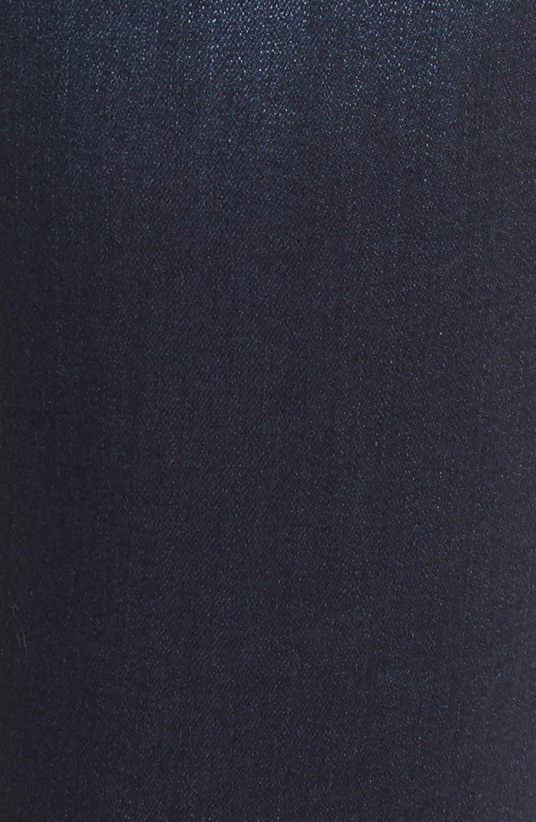 Alternate Image 6  - Mavi Jeans Gold Alexa Stretch Skinny Jeans (Deep Feather) (Regular & Petite)