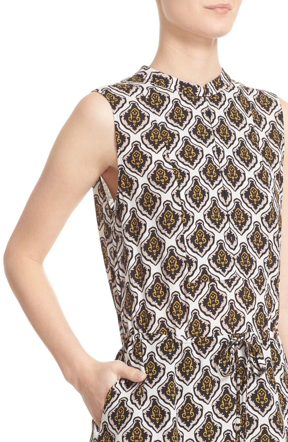 Alternate Image 4  - A.L.C. Calder Print Silk Fit & Flare Dress