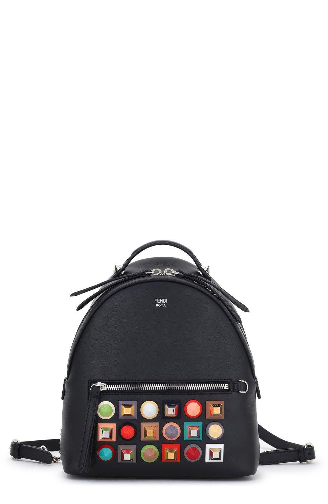 Main Image - Fendi Mini Multi Studs Leather Backpack