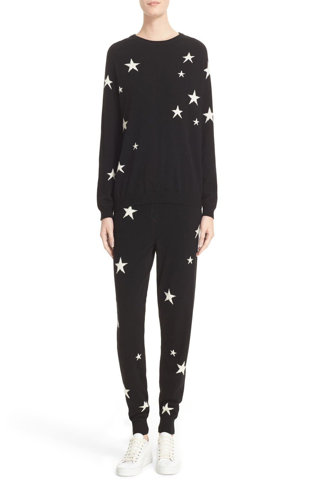 Alternate Image 2  - Chinti and Parker Star Knit Cashmere Track Pants