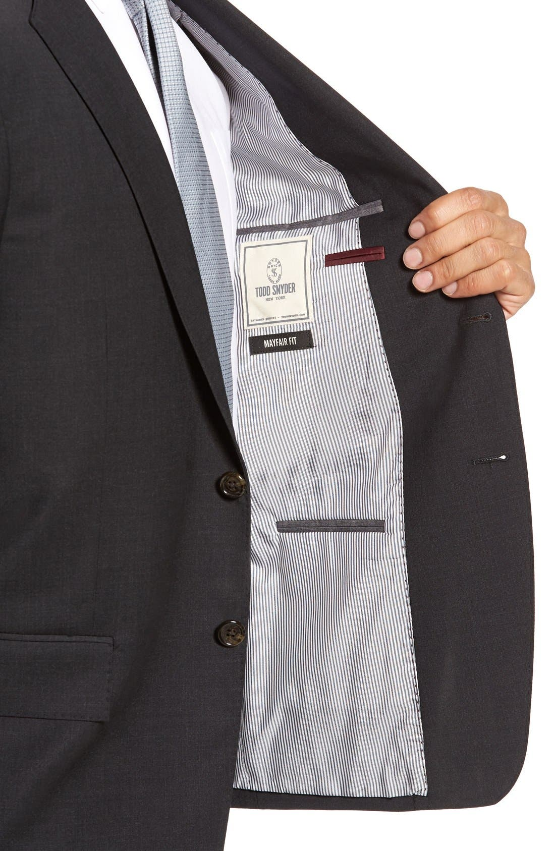 Alternate Image 4  - Todd Snyder White Label 'May Fair' Trim Fit Solid Stretch Wool Suit