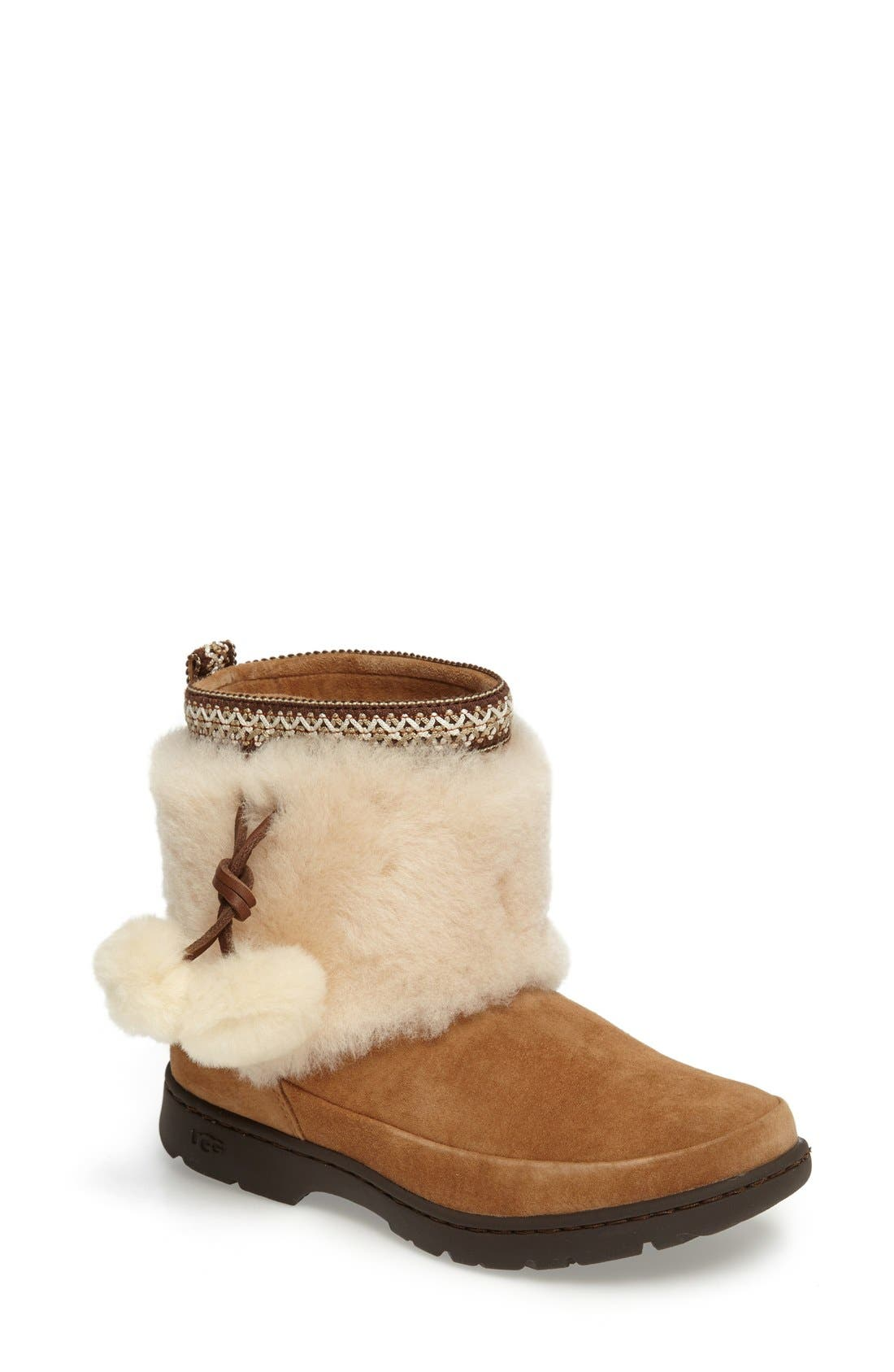 Main Image - UGG® Brie Genuine Shearling Waterproof Bootie (Women)