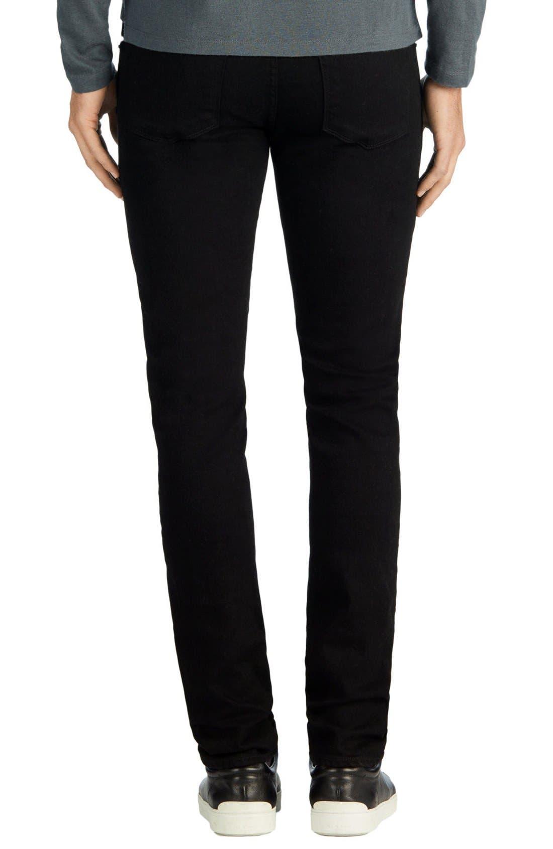 Alternate Image 2  - J Brand Skinny Jeans (Trivor Black)