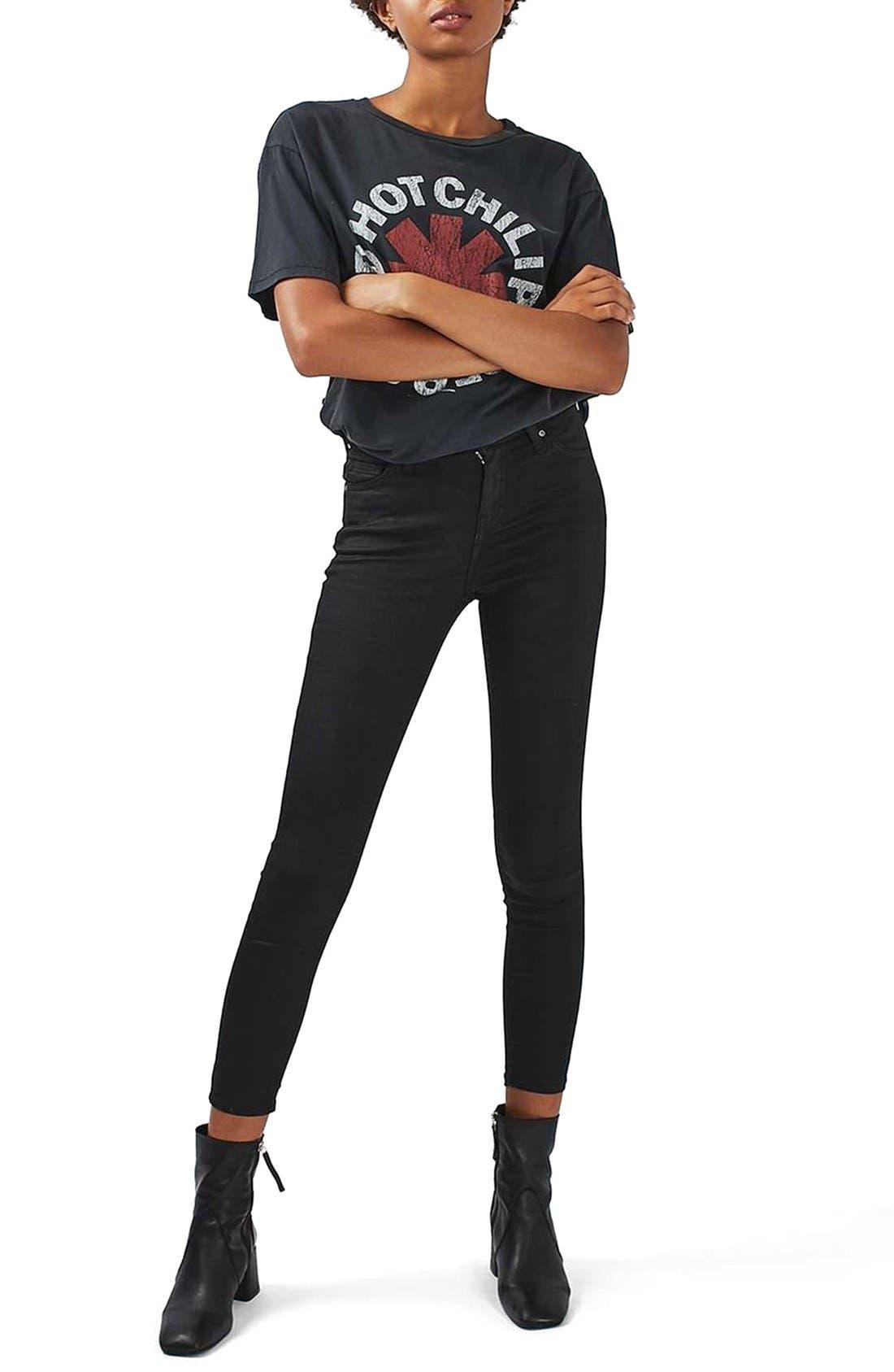 Alternate Image 2  - Topshop Jamie Coated Skinny Jeans