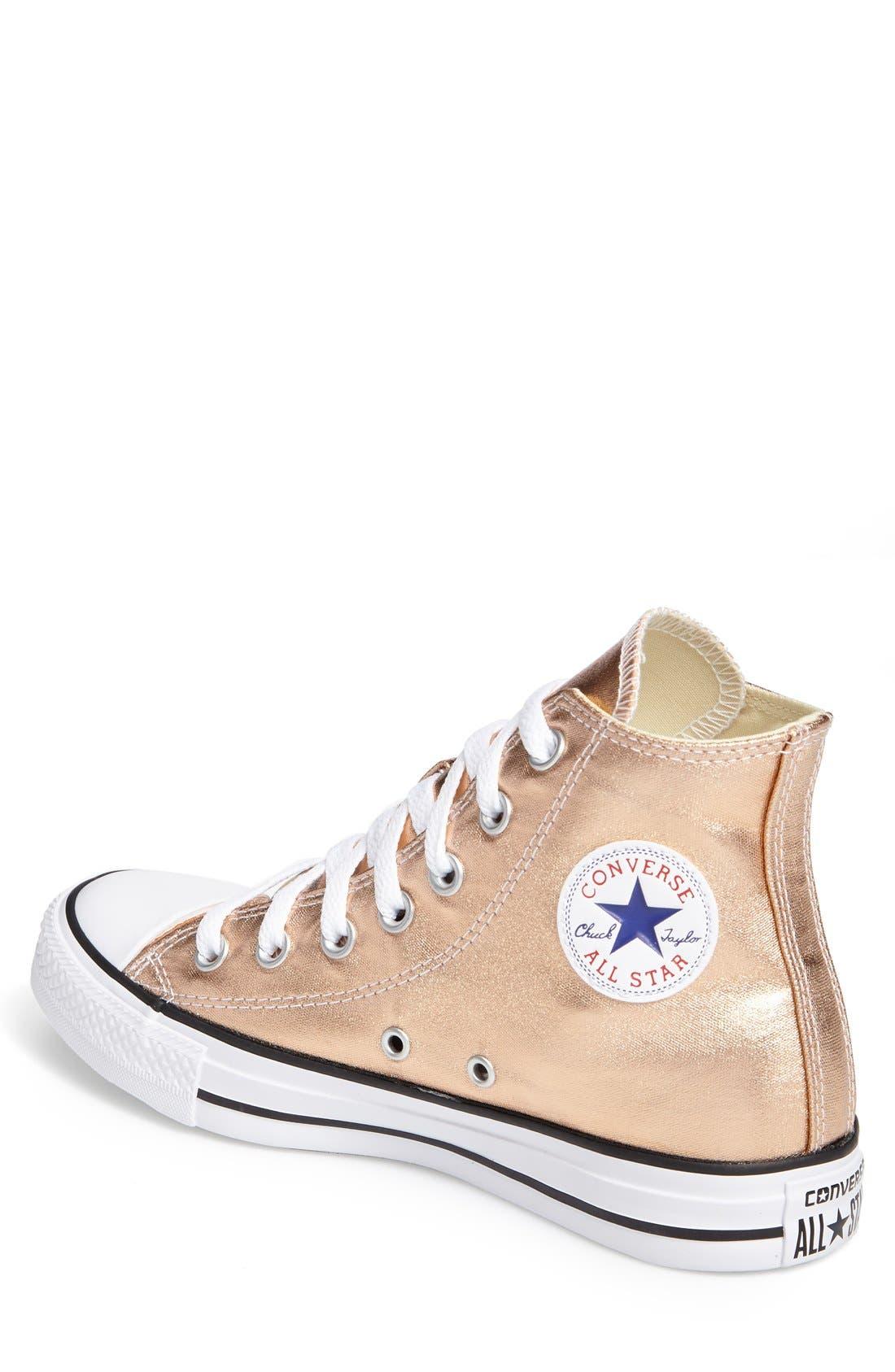 Alternate Image 2  - Converse Chuck Taylor® All Star® Metallic High Top Sneaker (Women)