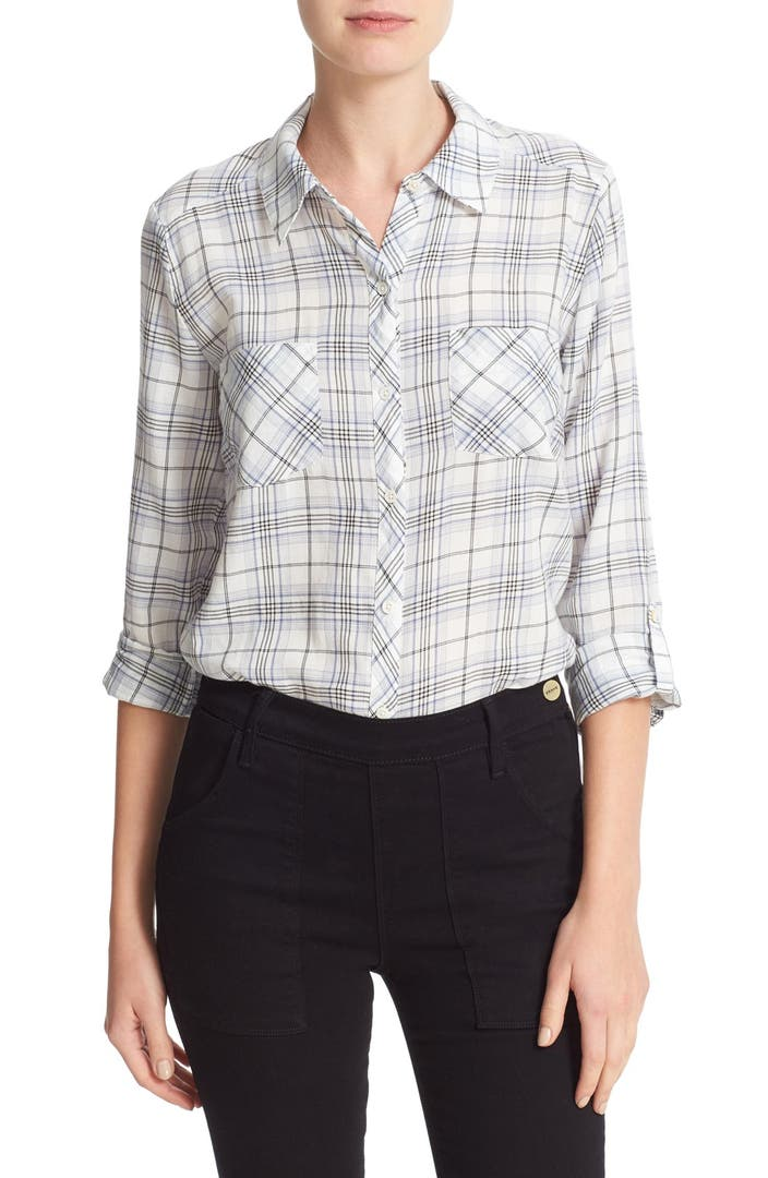Soft joie sequoia plaid shirt nordstrom for Soft joie plaid shirt