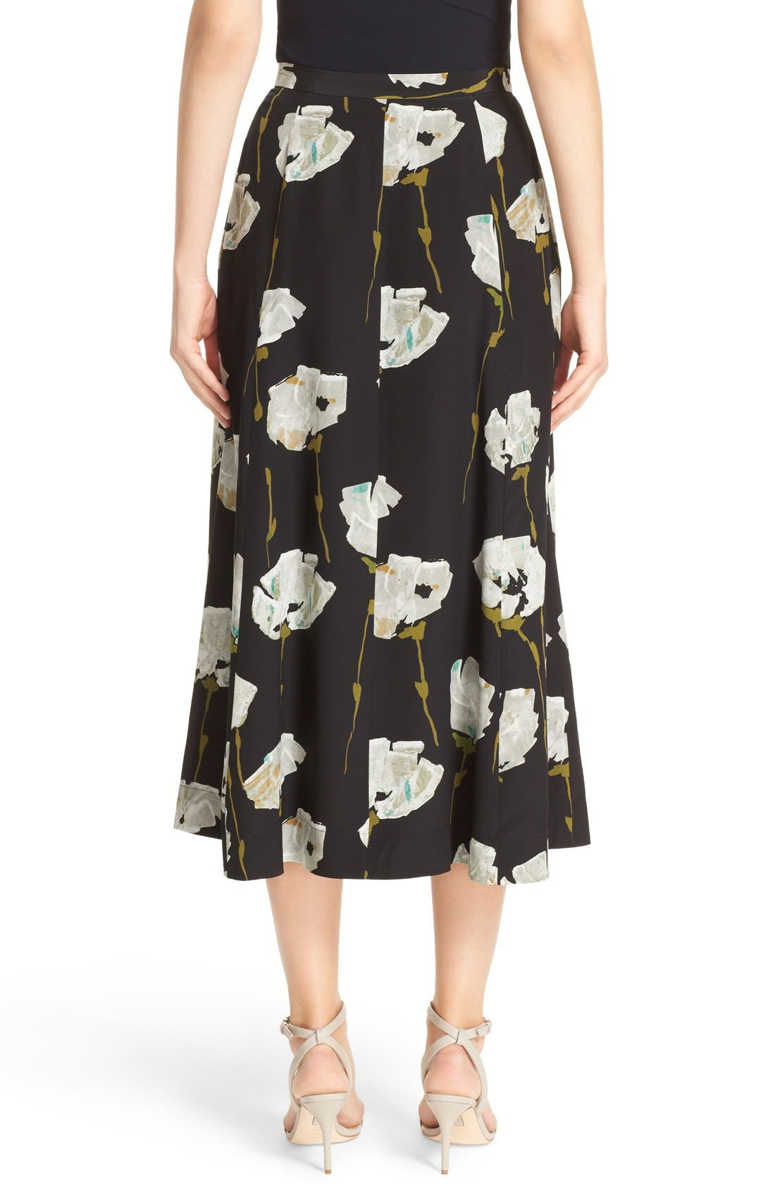 Alternate Image 2  - Lafayette 148 New York Carissa Floral Print Skirt