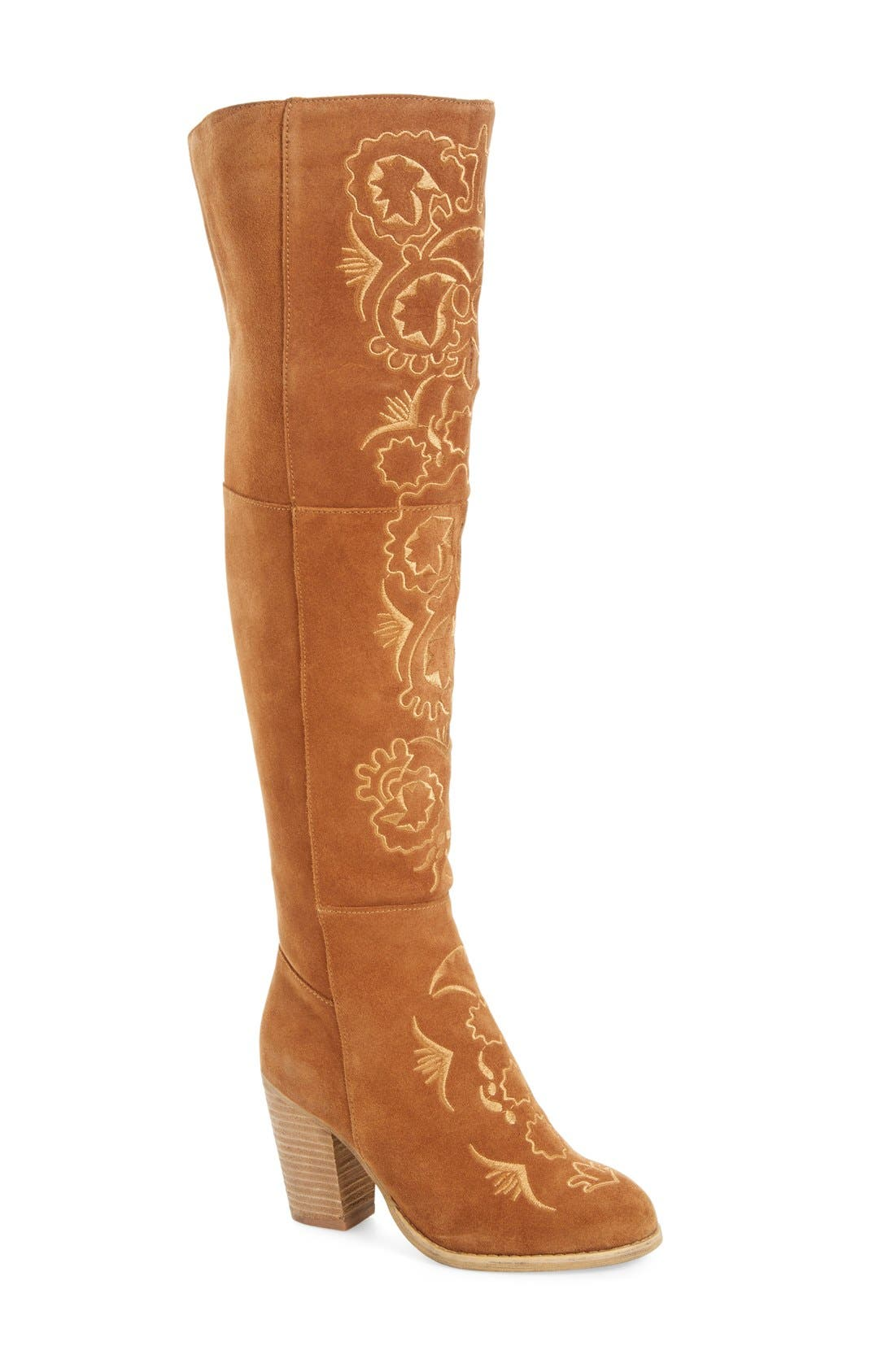Main Image - Sbicca Acapella Embroidered Over the Knee Boot (Women)