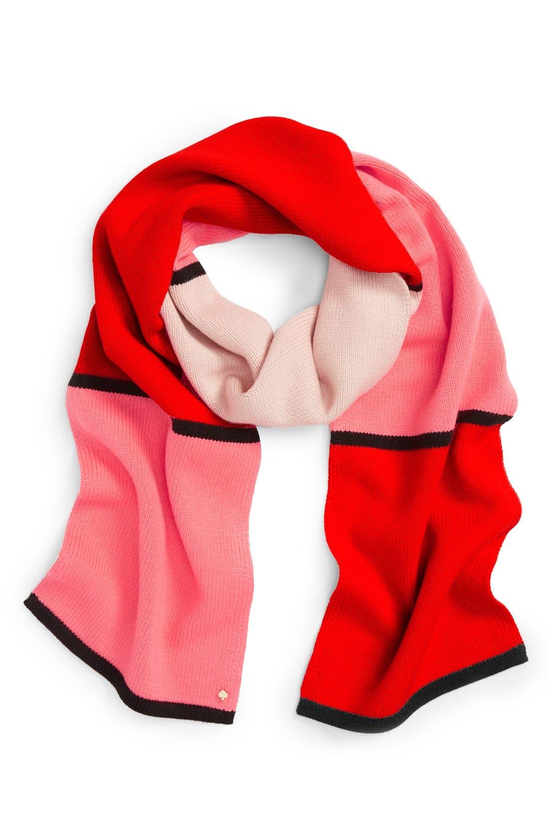 Alternate Image 1 Selected - kate spade new york mondarian colorblock scarf