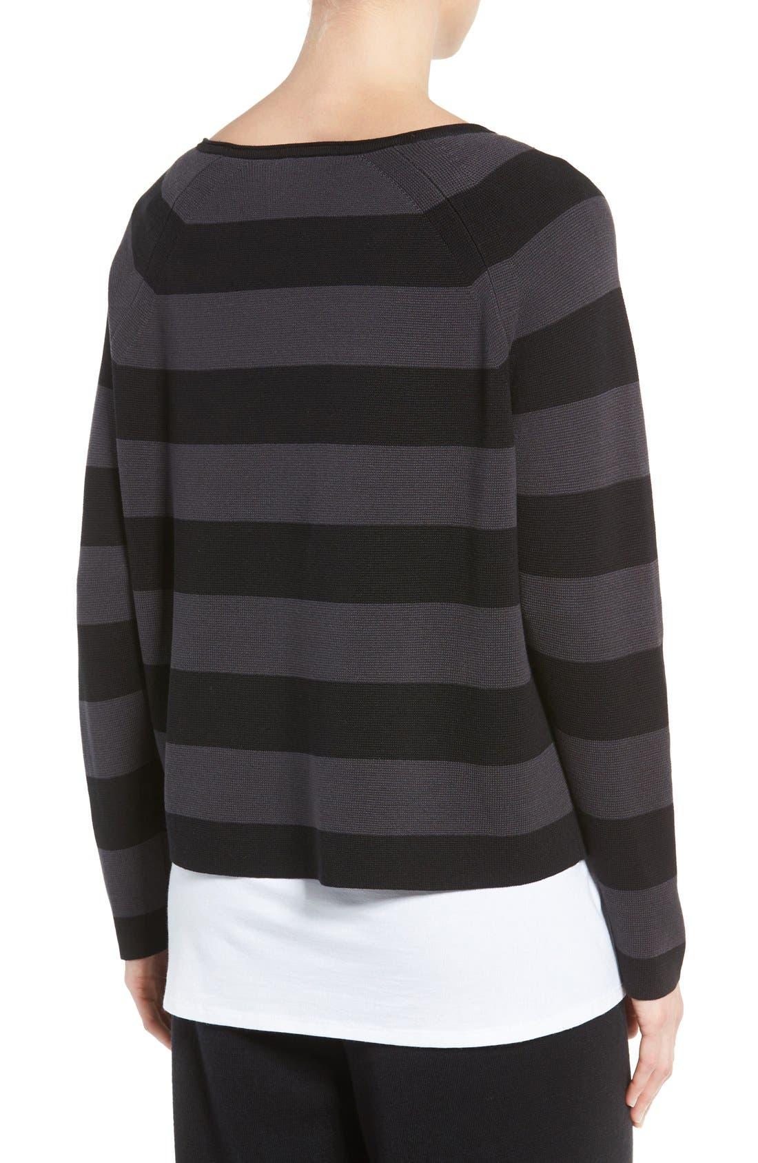Alternate Image 3  - Eileen Fisher Crop Silk & Organic Cotton Top (Regular & Petite)