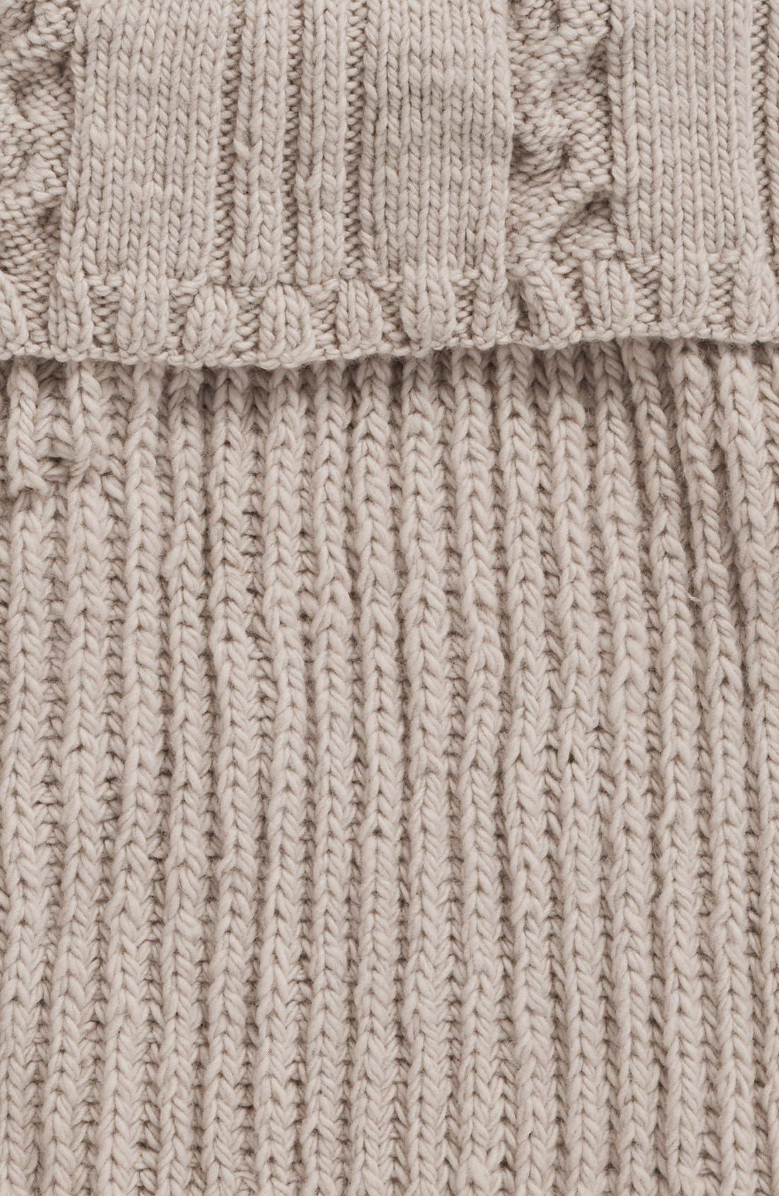 Alternate Image 3  - Nirvanna Designs Oversize Cable Knit Wool Infinity Scarf