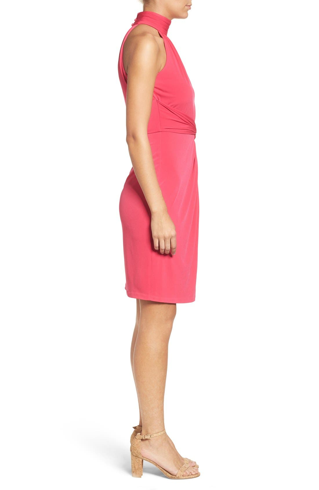 Alternate Image 3  - Catherine Catherine Malandrino Jazz Halter Style Twist Front Dress