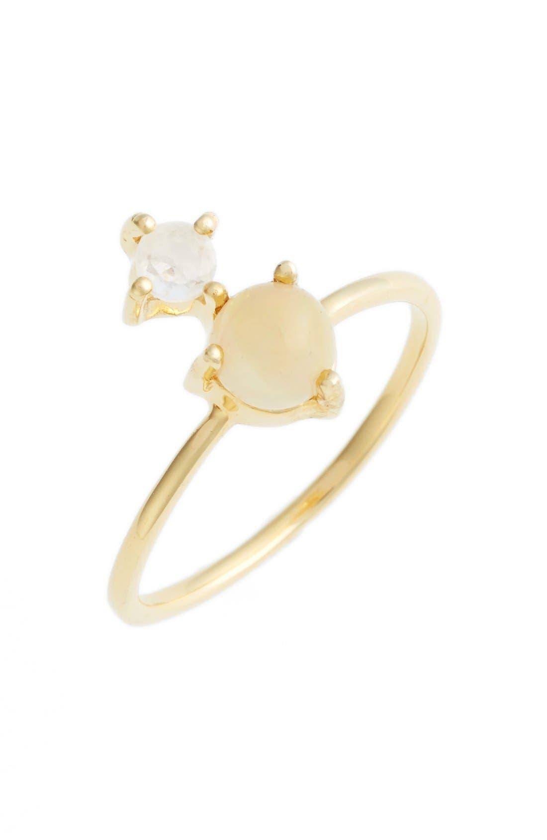 Alternate Image 1 Selected - Leah Alexandra Opal & Moonstone Ring