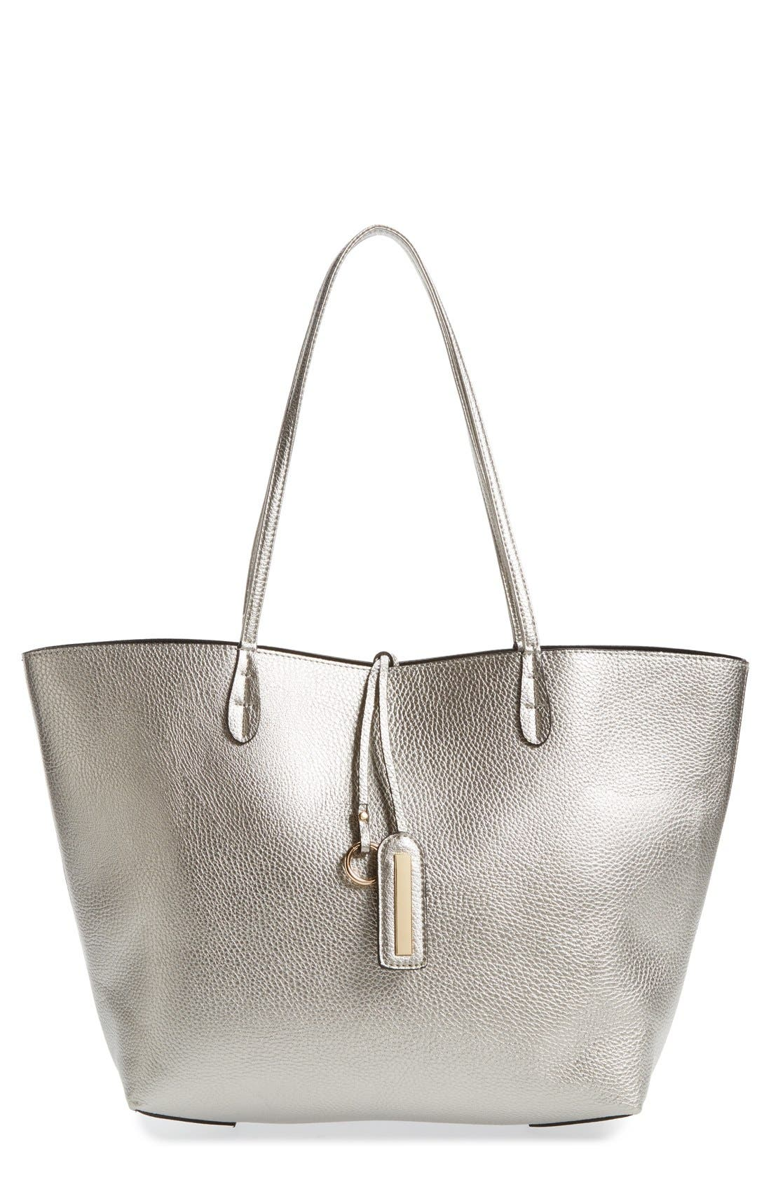 Main Image - Street Level Reversible Faux Leather Tote