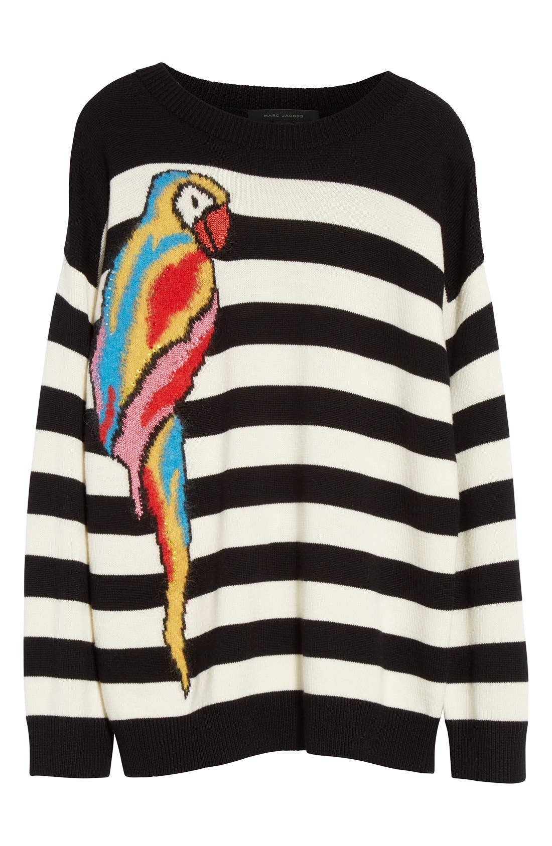 Alternate Image 4  - MARC JACOBS Parrot Jacquard Sweater