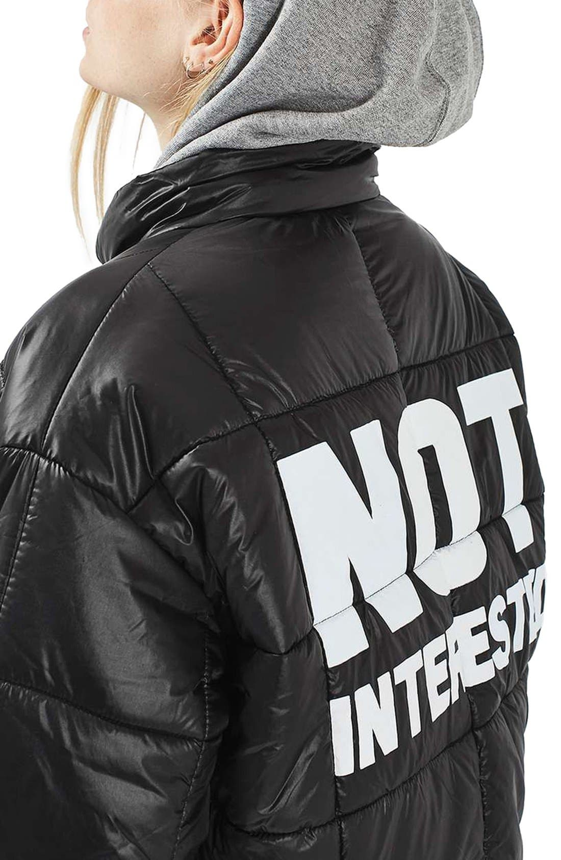 Alternate Image 3  - Topshop Nina Puffer Jacket