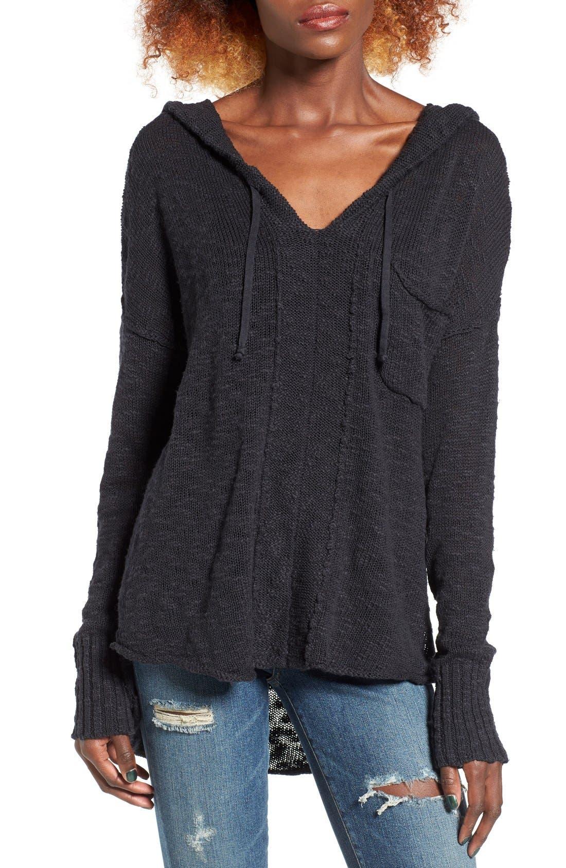 Alternate Image 1 Selected - Roxy Airwaves Hooded Sweater