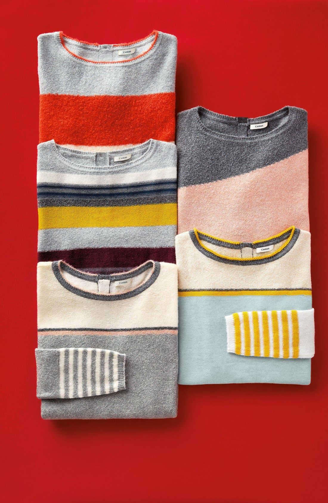 Alternate Image 6  - Caslon® Back Button Stripe Knit Sweater (Regular & Petite)