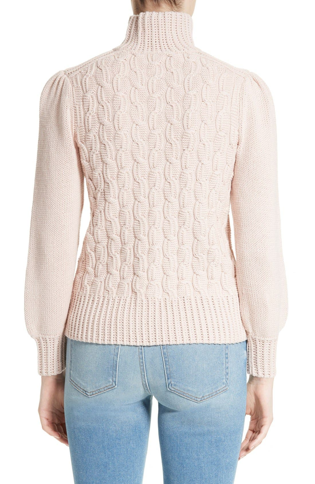 Alternate Image 2  - La Vie Rebecca Taylor Cable Knit Turtleneck Sweater