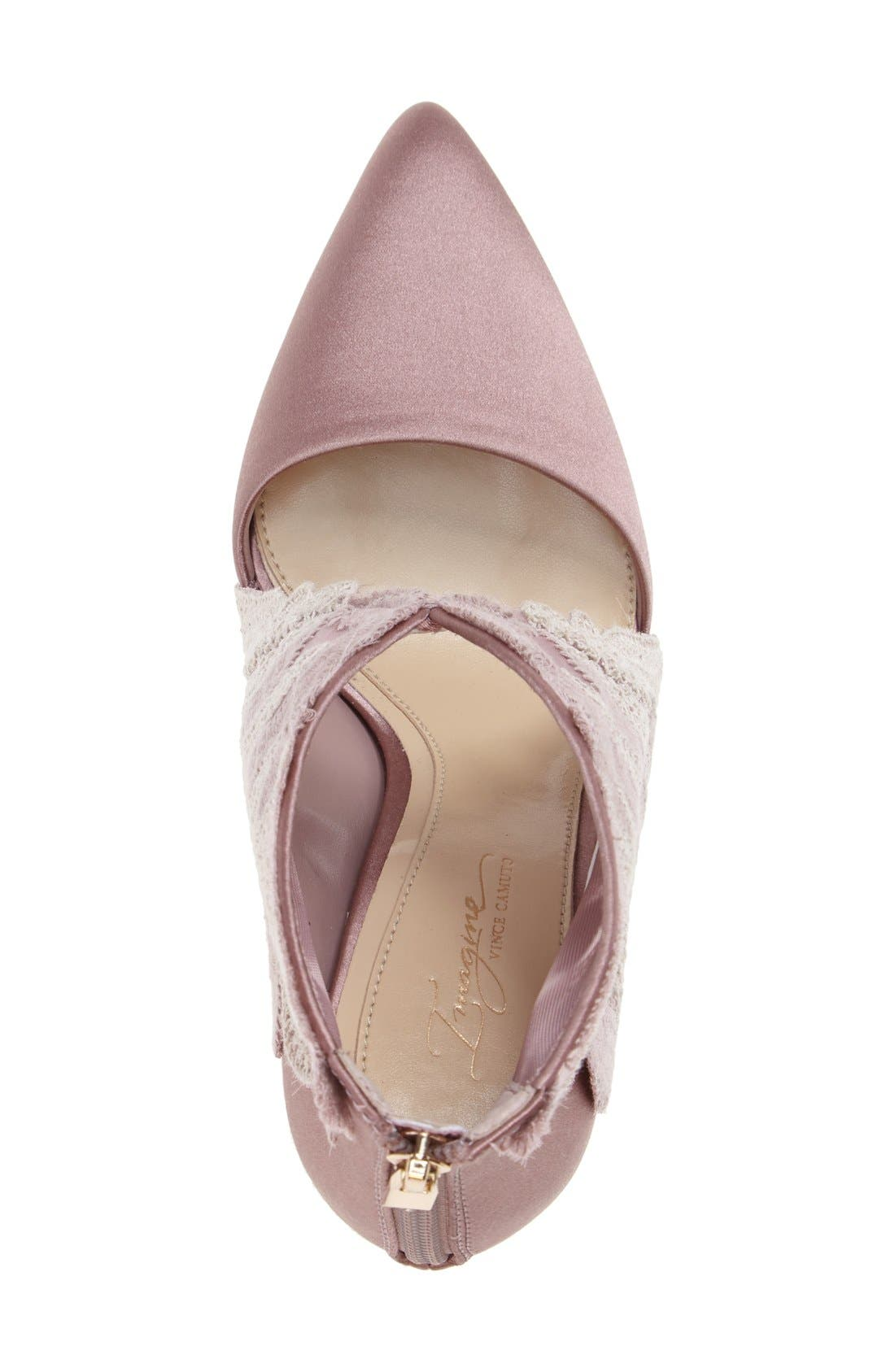 Alternate Image 3  - Imagine by Vince Camuto Obin Lace Detailed Pointy Toe Pump (Women)