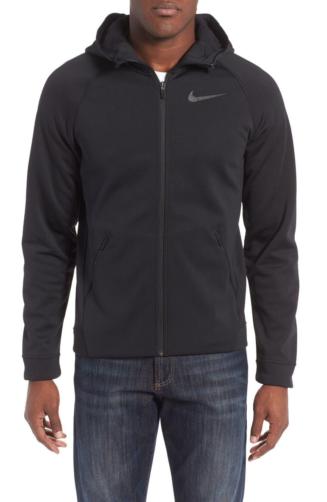 Alternate Image 1 Selected - Nike Therma-Sphere Hooded Zip Jacket