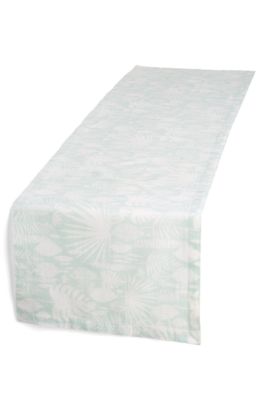 Minted Tropical Leaves Table Runner