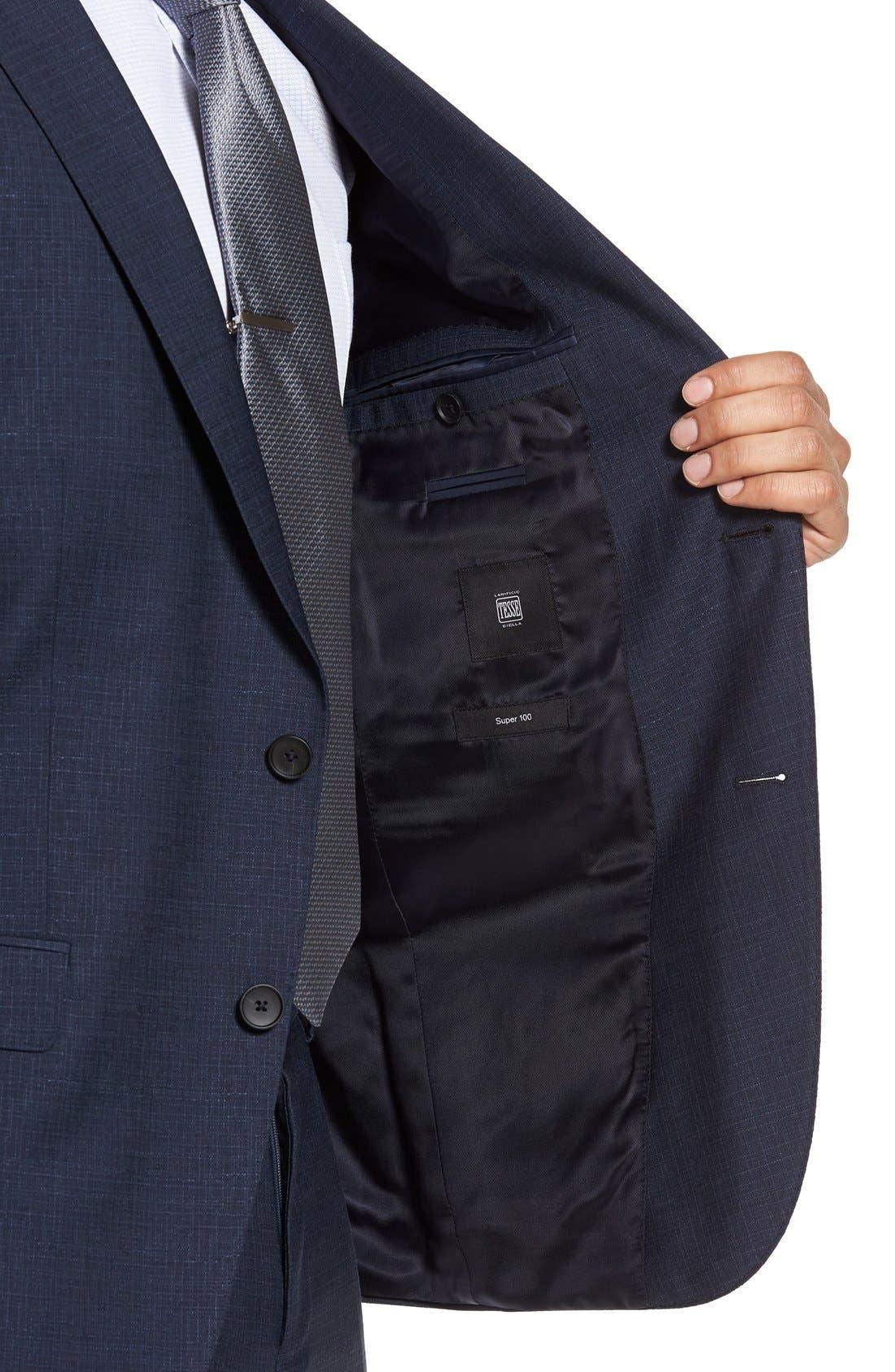 Alternate Image 5  - BOSS Nova/Ben Trim Fit Solid Wool Suit