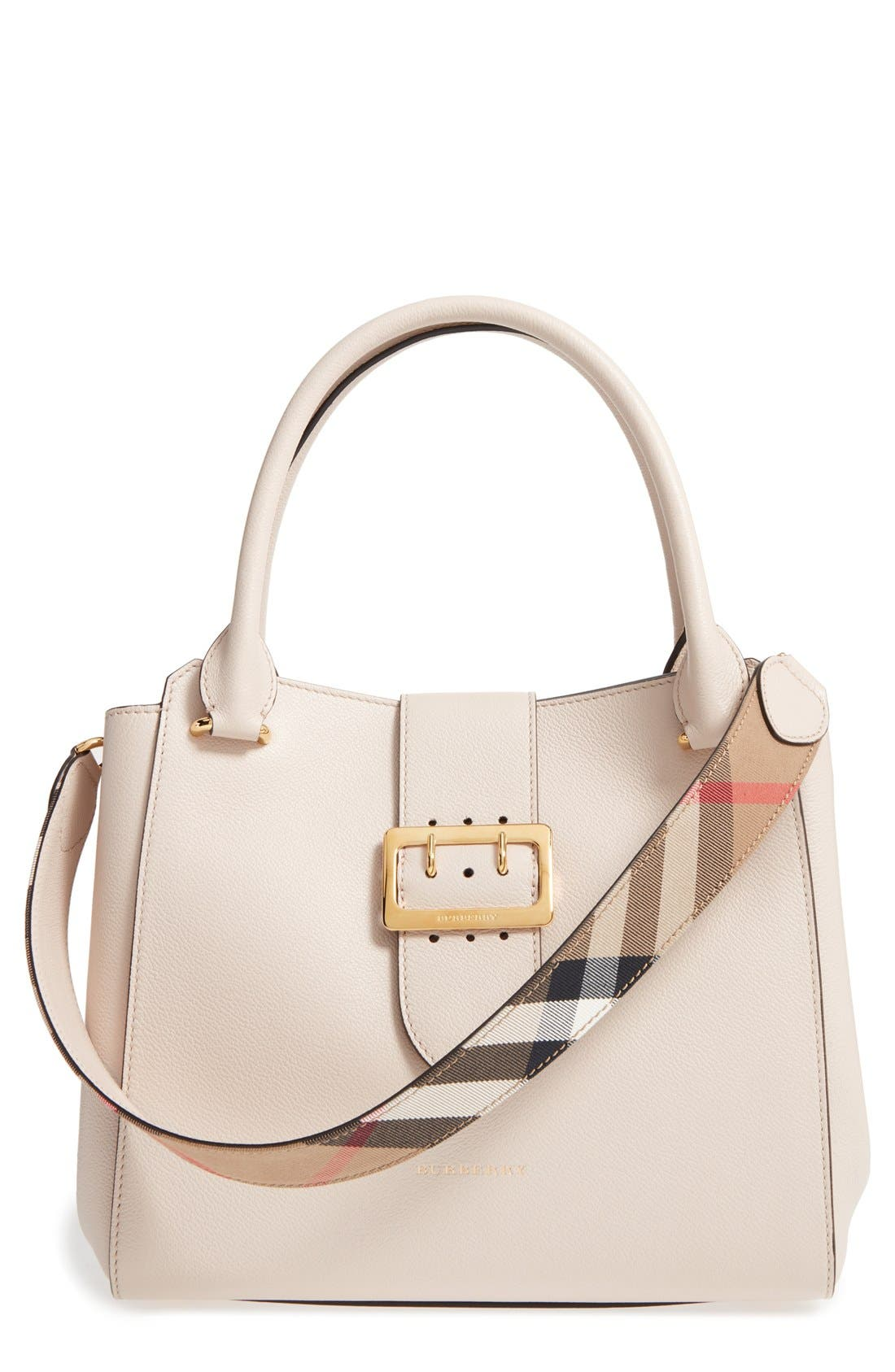 Alternate Image 1 Selected - Burberry Medium Buckle Leather Satchel