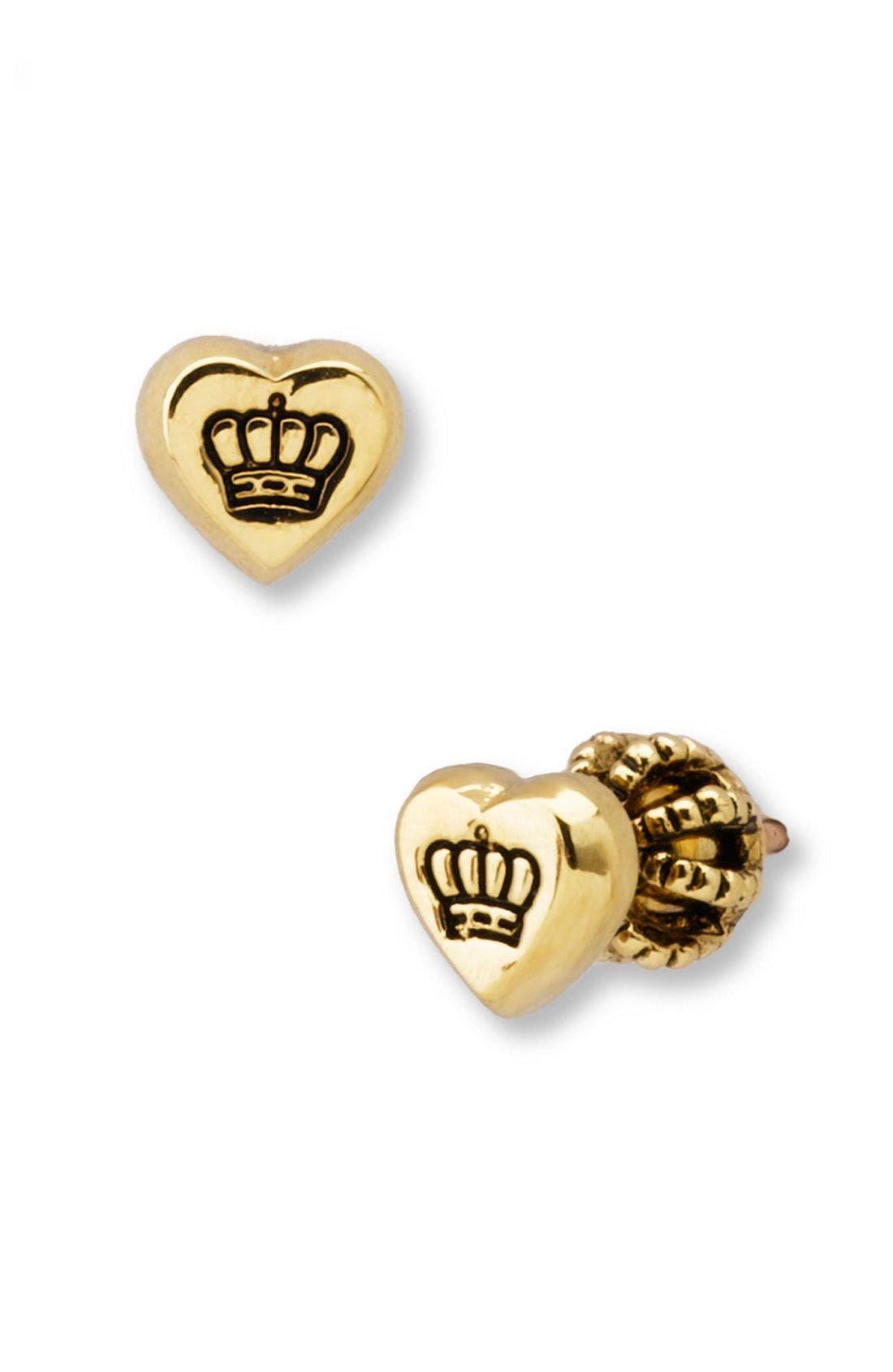 Alternate Image 1 Selected - Juicy Couture Heart Stud Earrings