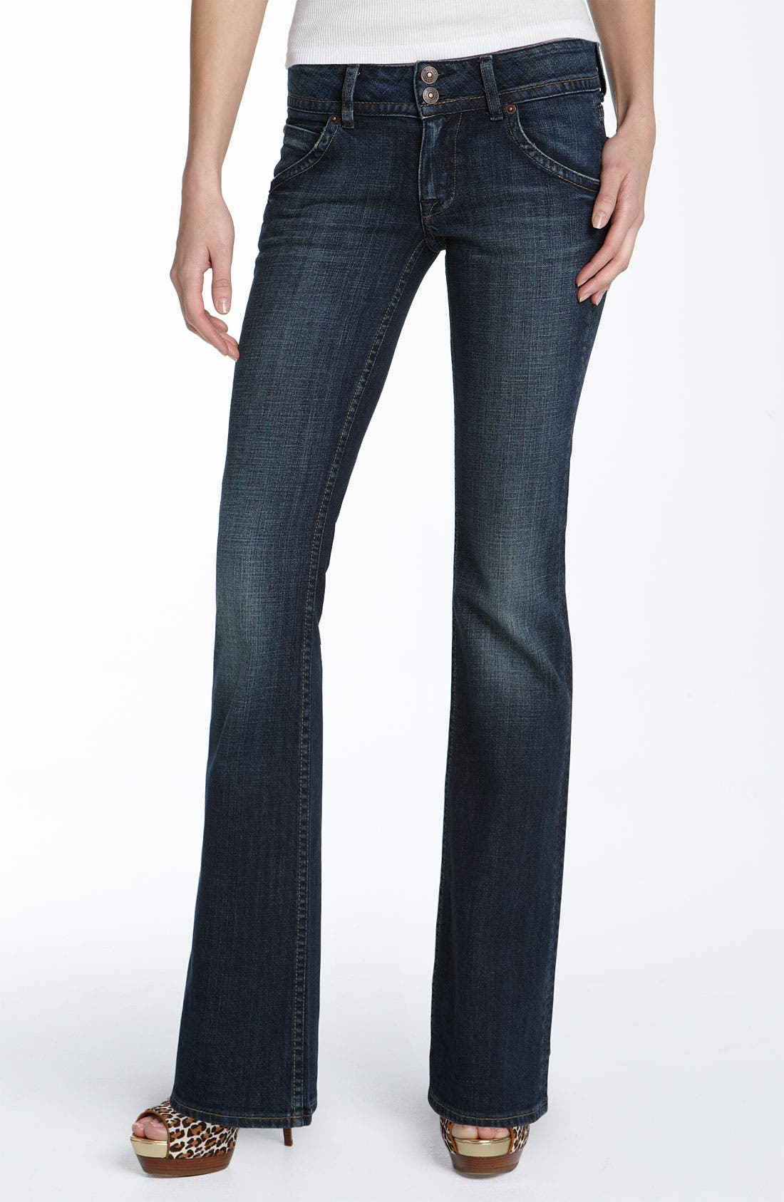 Main Image - Hudson Jeans Triangle Pocket Bootcut Stretch Jeans (Weiss Wash)