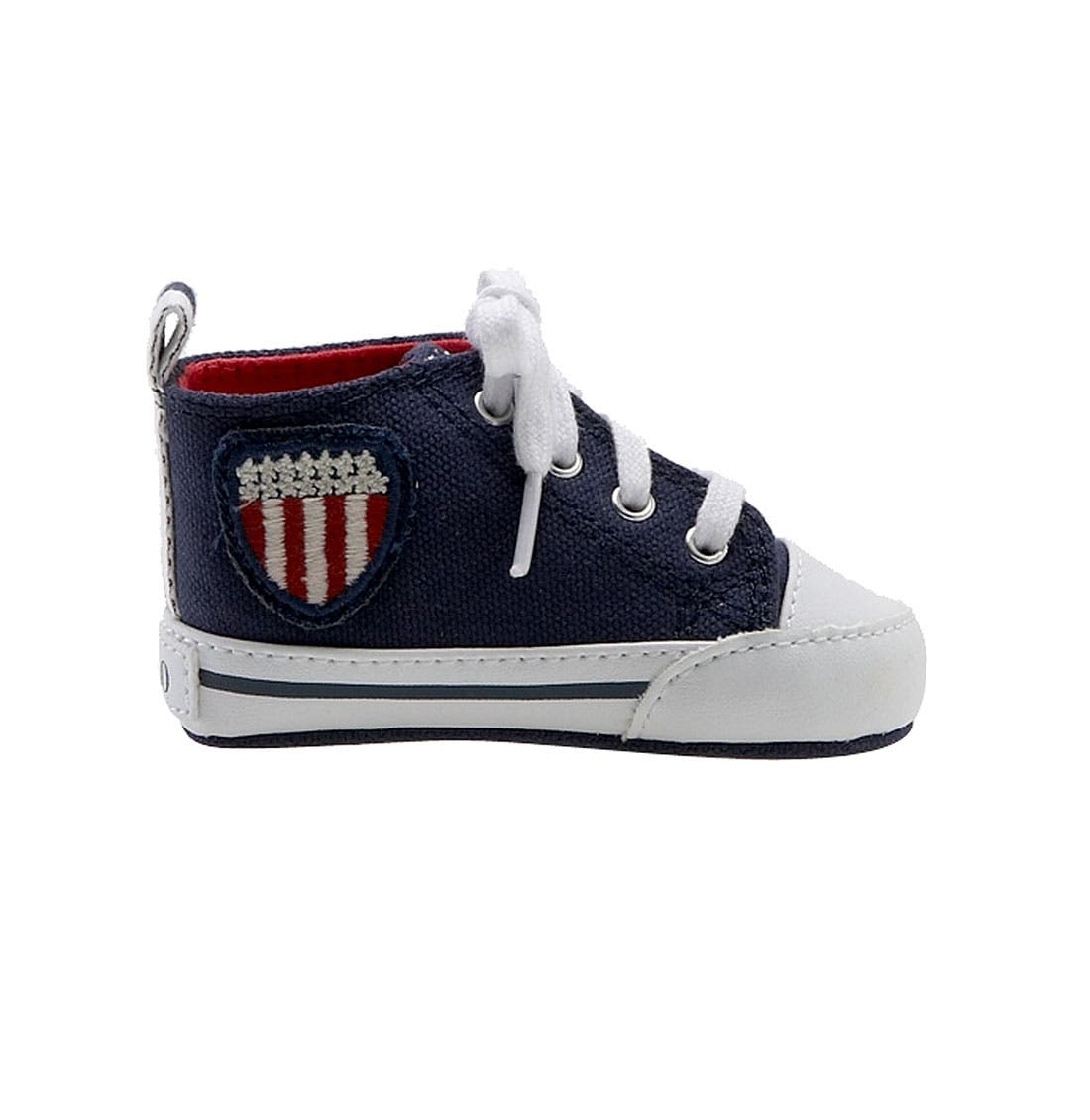 Alternate Image 2  - Ralph Lauren Layette 'Bal Harbour Hi' Sneaker (Baby)