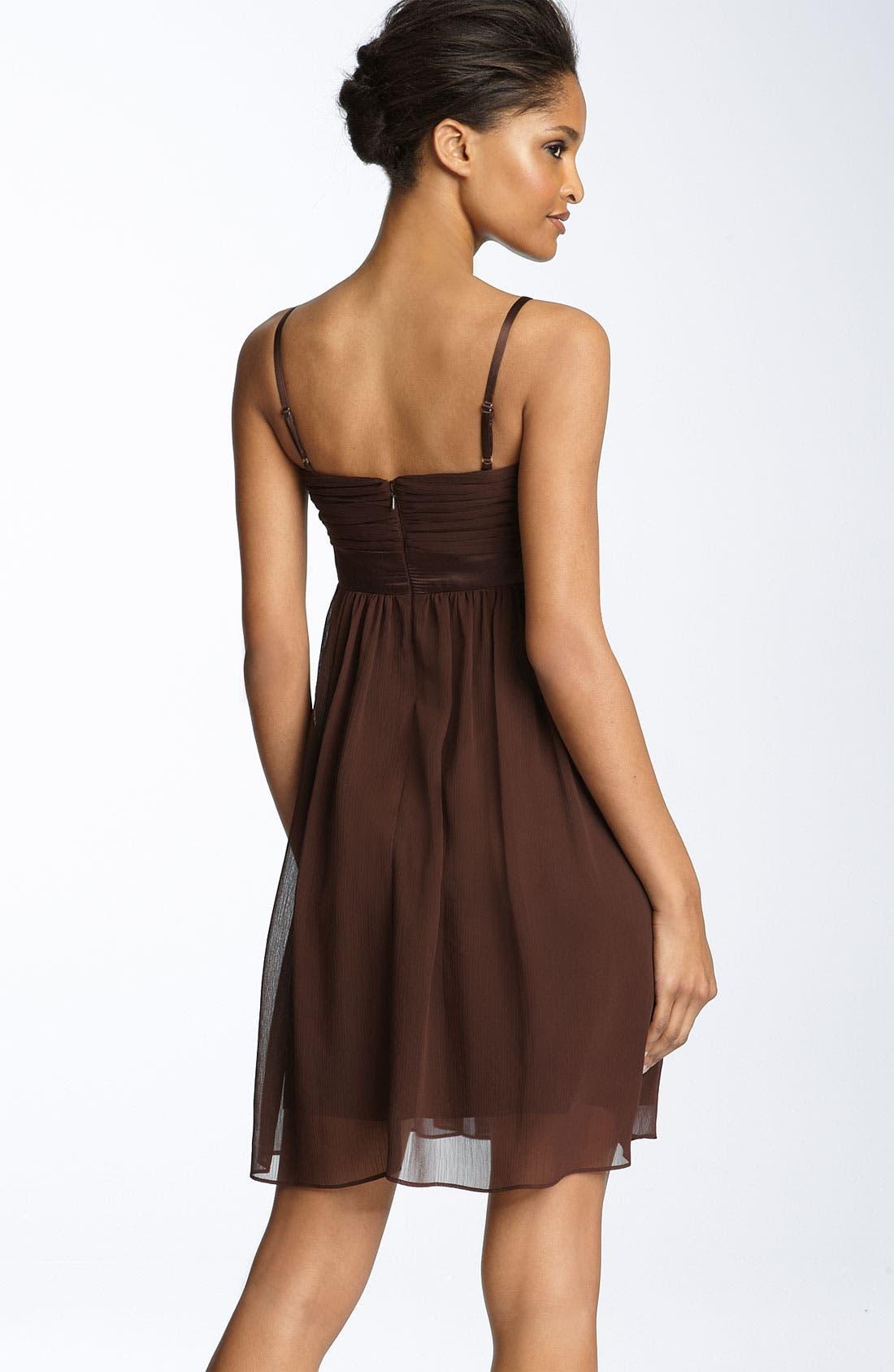 Alternate Image 2  - Maggy London Bow Detail Chiffon Dress