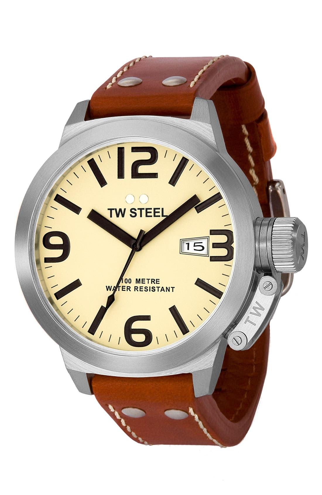 Alternate Image 1 Selected - TW Steel Stainless Steel Watch