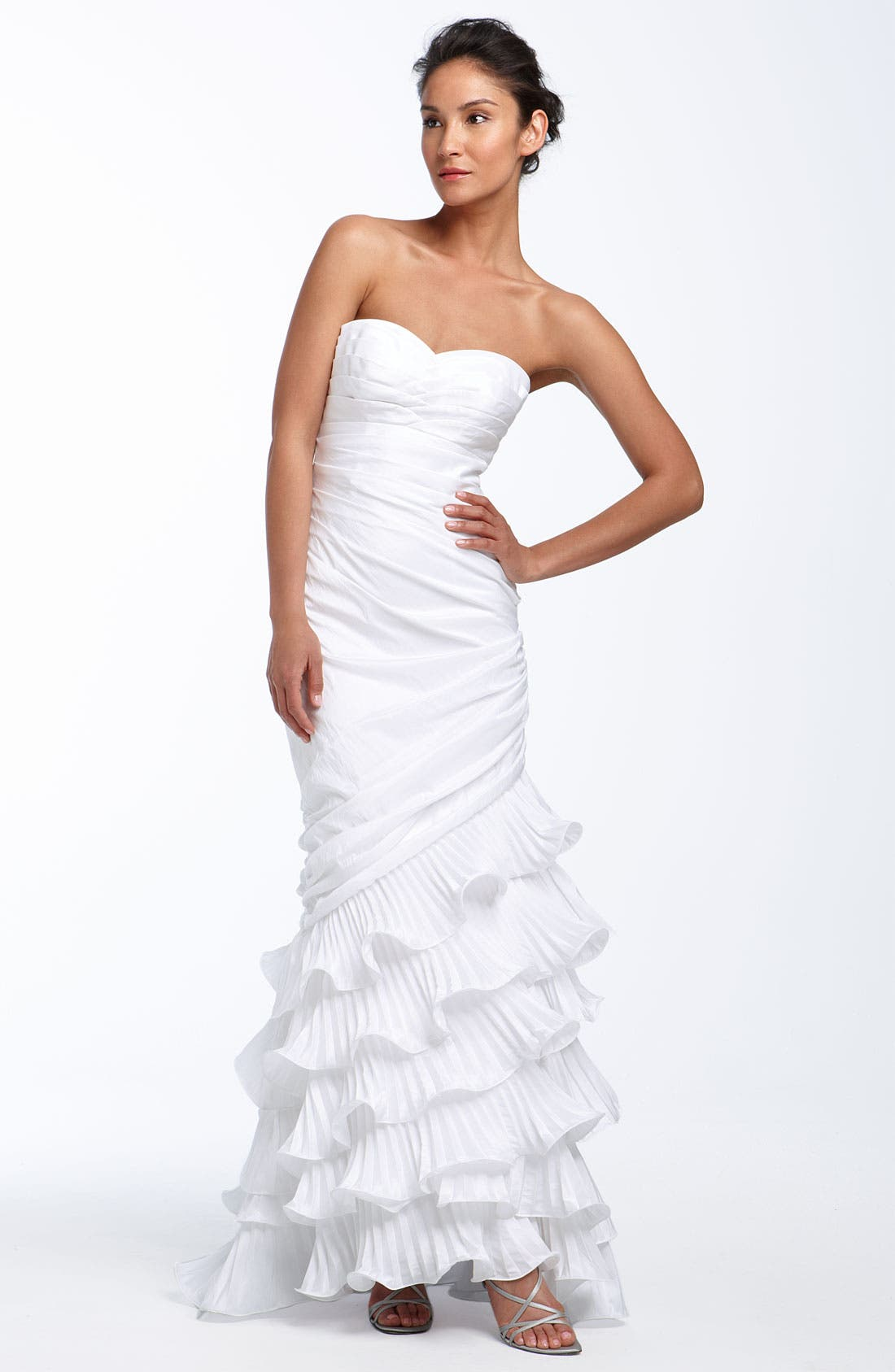 Alternate Image 1 Selected - Dalia MacPhee Strapless Taffeta Mermaid Gown