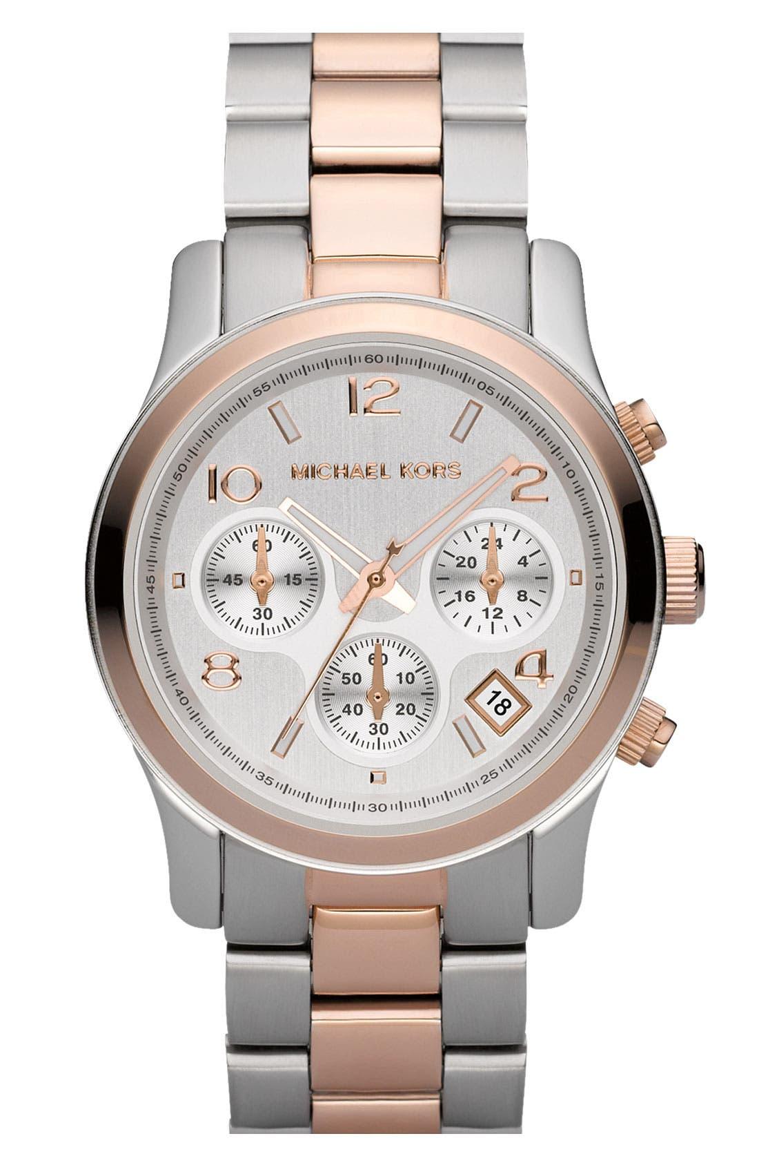 Alternate Image 1 Selected - Michael Kors 'Runway' Chronograph Watch